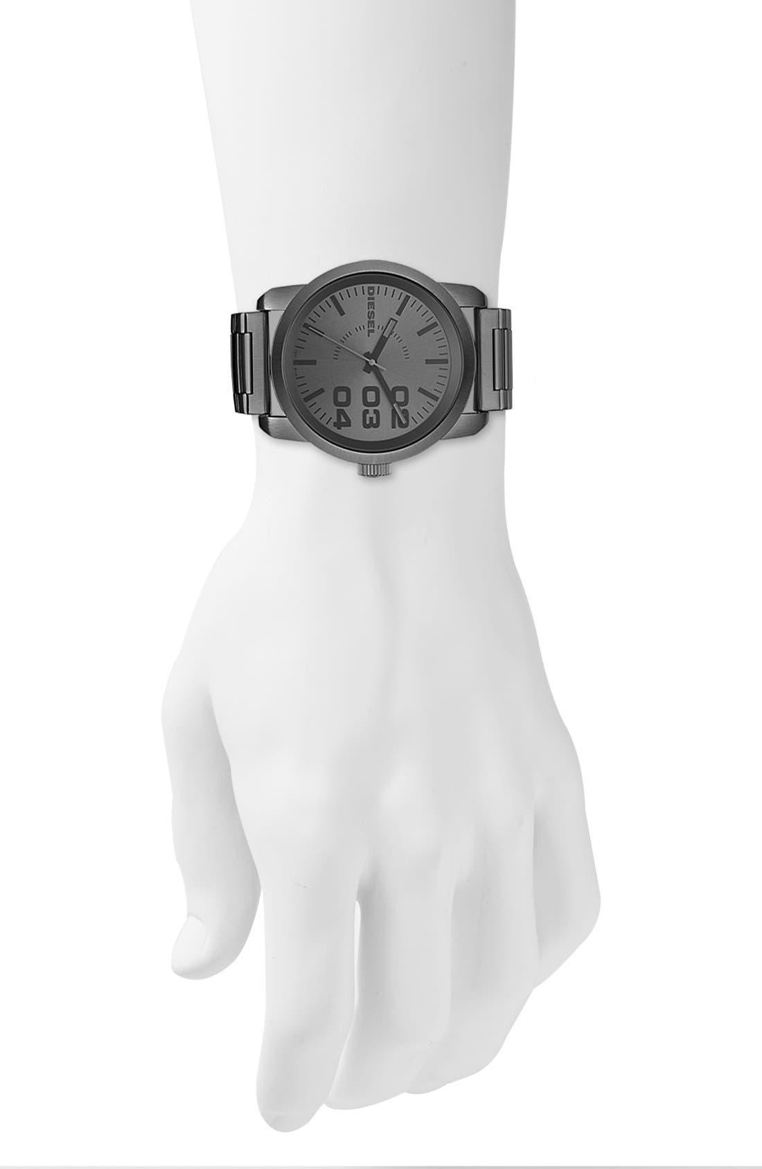 Alternate Image 4  - DIESEL® 'Double Down' Bracelet Watch, 46mm