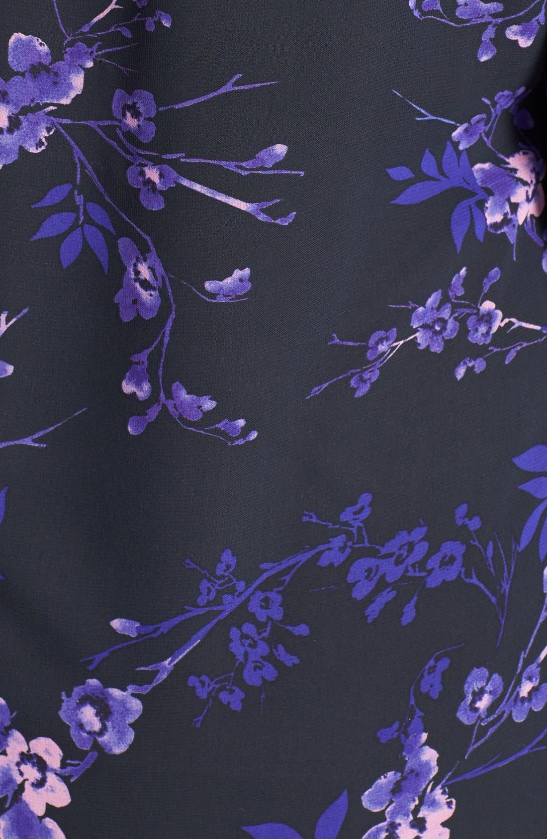 Alternate Image 3  - Evans Embellished Cuff Print Chiffon Blouse (Plus Size)