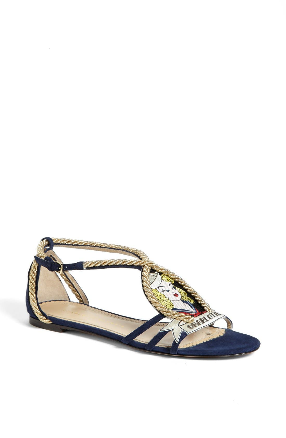 Alternate Image 1 Selected - Charlotte Olympia 'Ahoy Sailor' Sandal