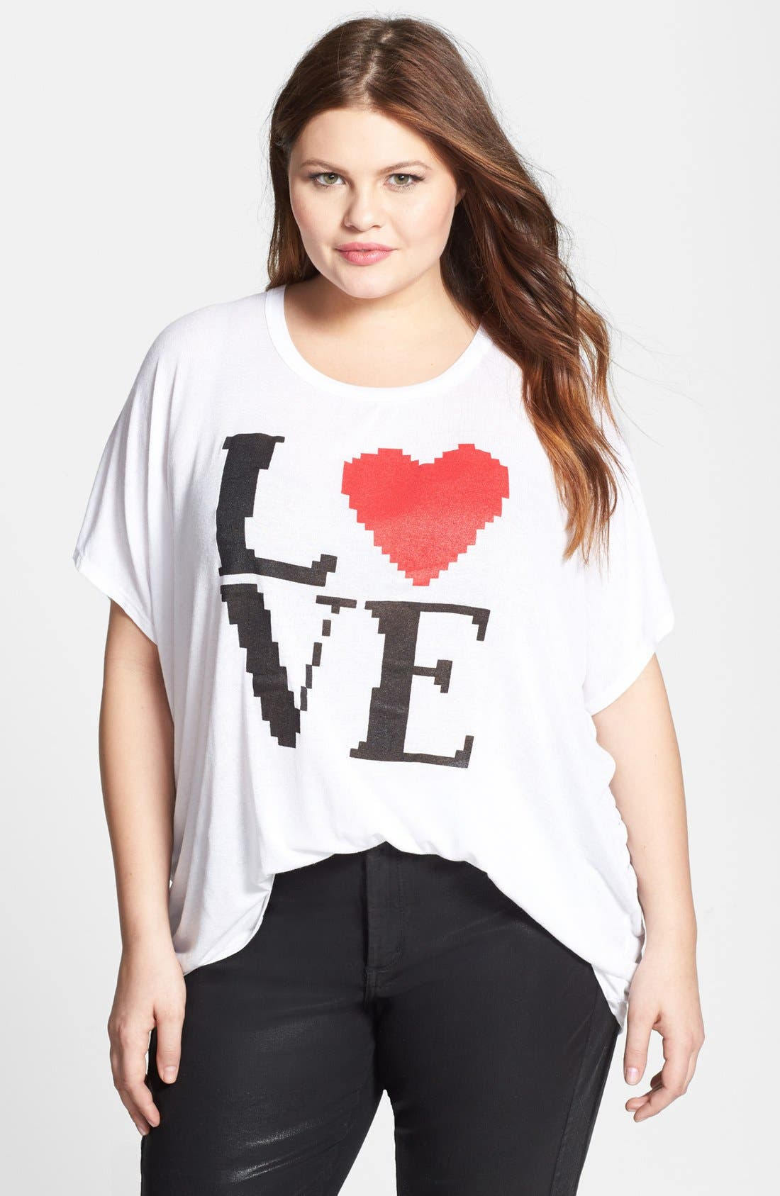 Main Image - Bobeau Graphic Short Sleeve Tee (Plus Size)