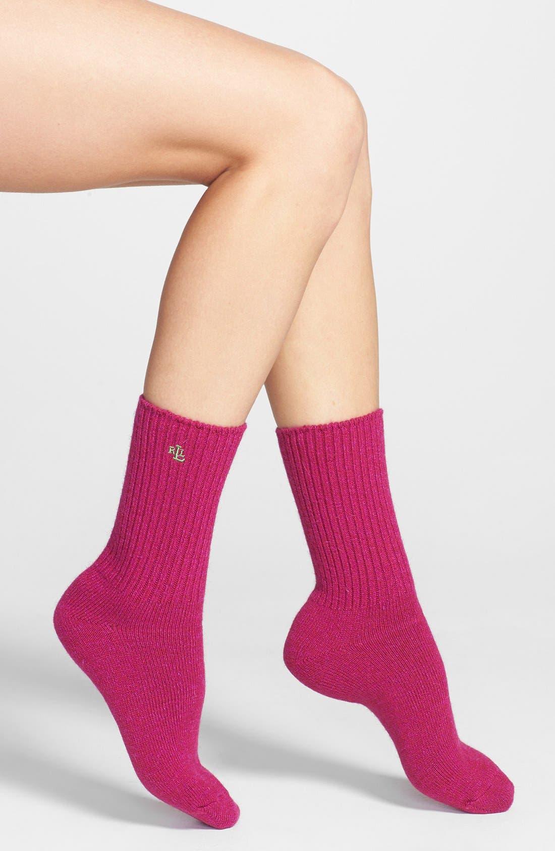 Alternate Image 1 Selected - Ralph Lauren Twist Trouser Socks