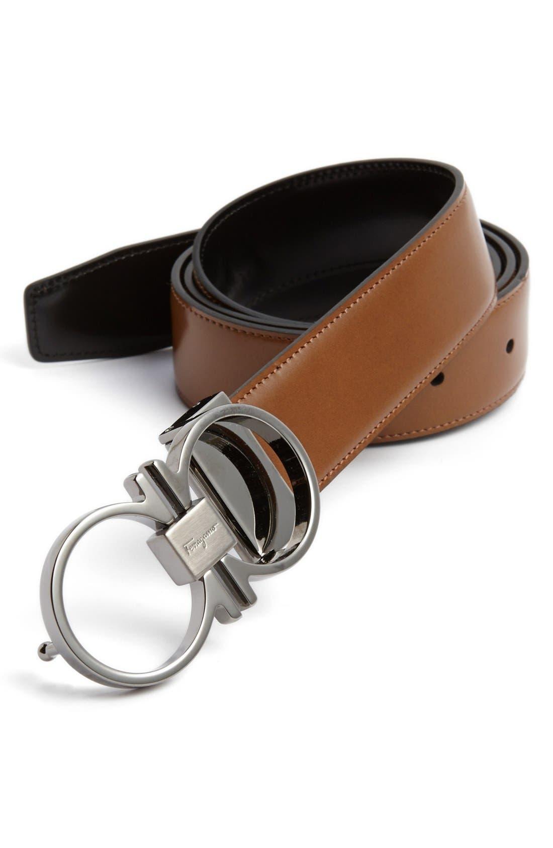 salvatore ferragamo reversible leather belt nordstrom