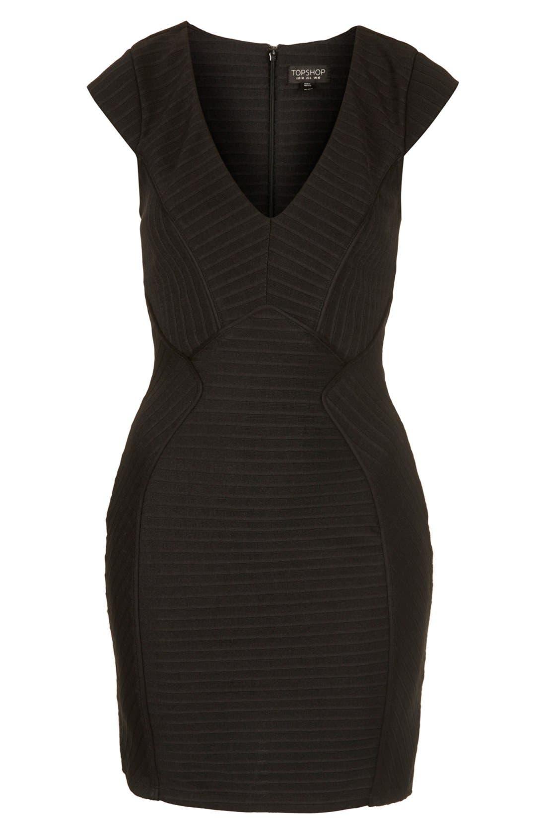 Alternate Image 3  - Topshop Bandage Jersey Body-Con Dress