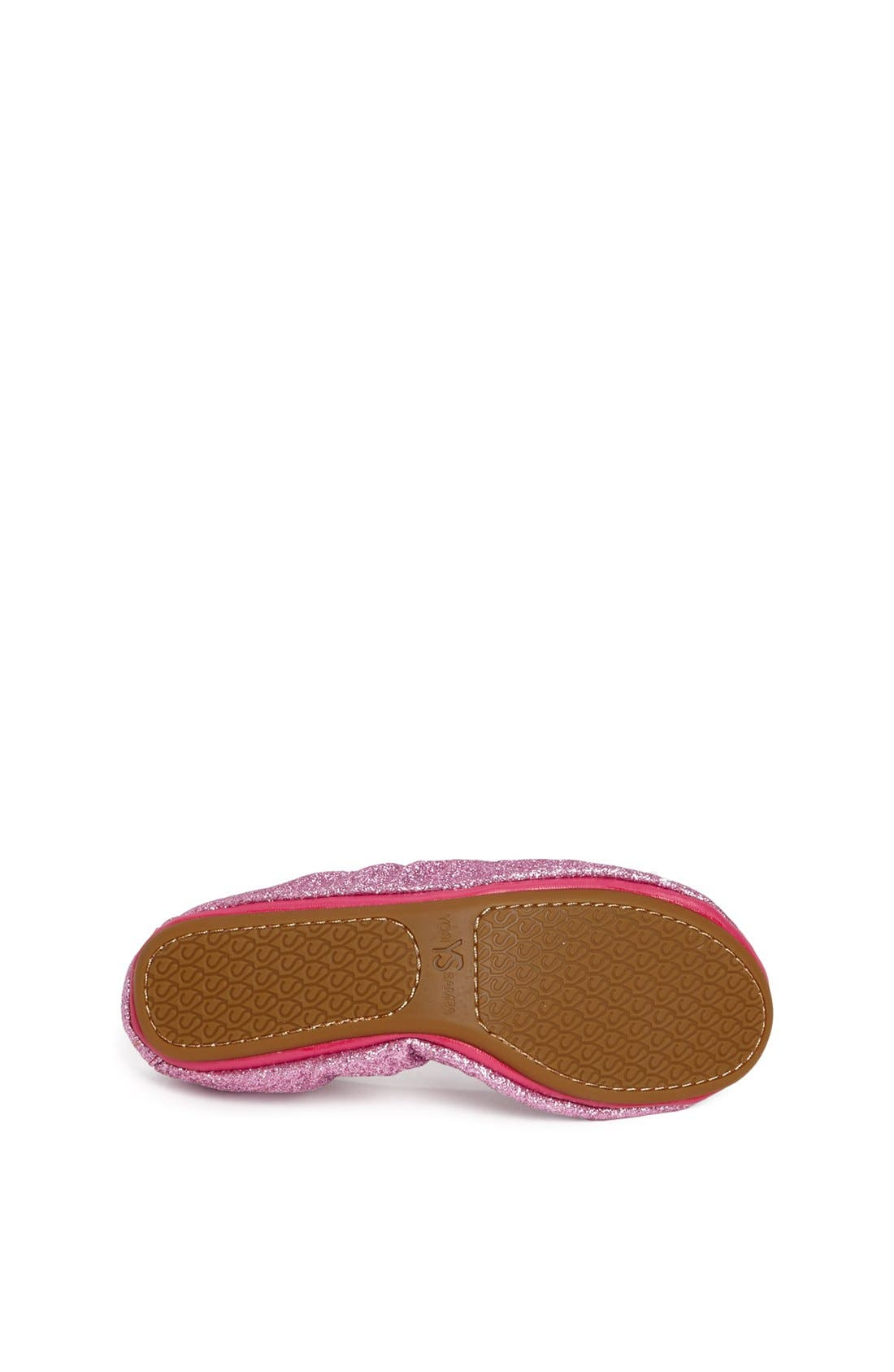 Alternate Image 4  - Yosi Samra Glitter Foldable Ballet Flat (Toddler, Little Kid & Big Kid)