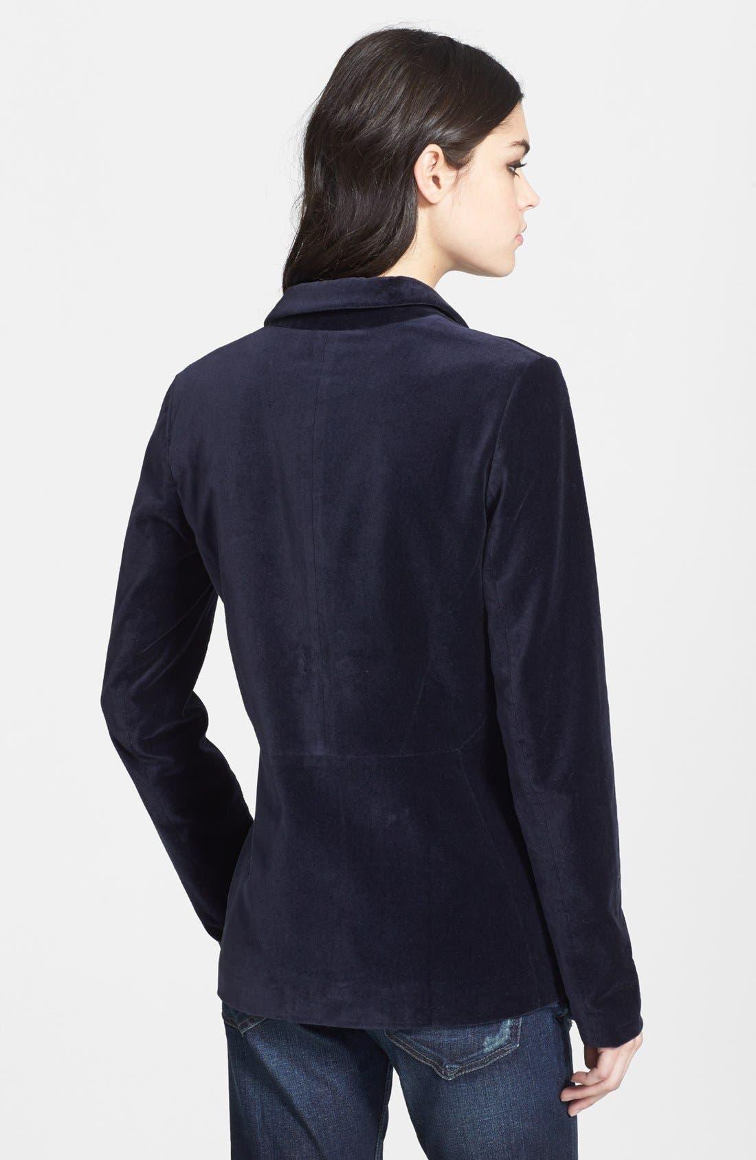 Alternate Image 2  - Tildon Velvet Blazer