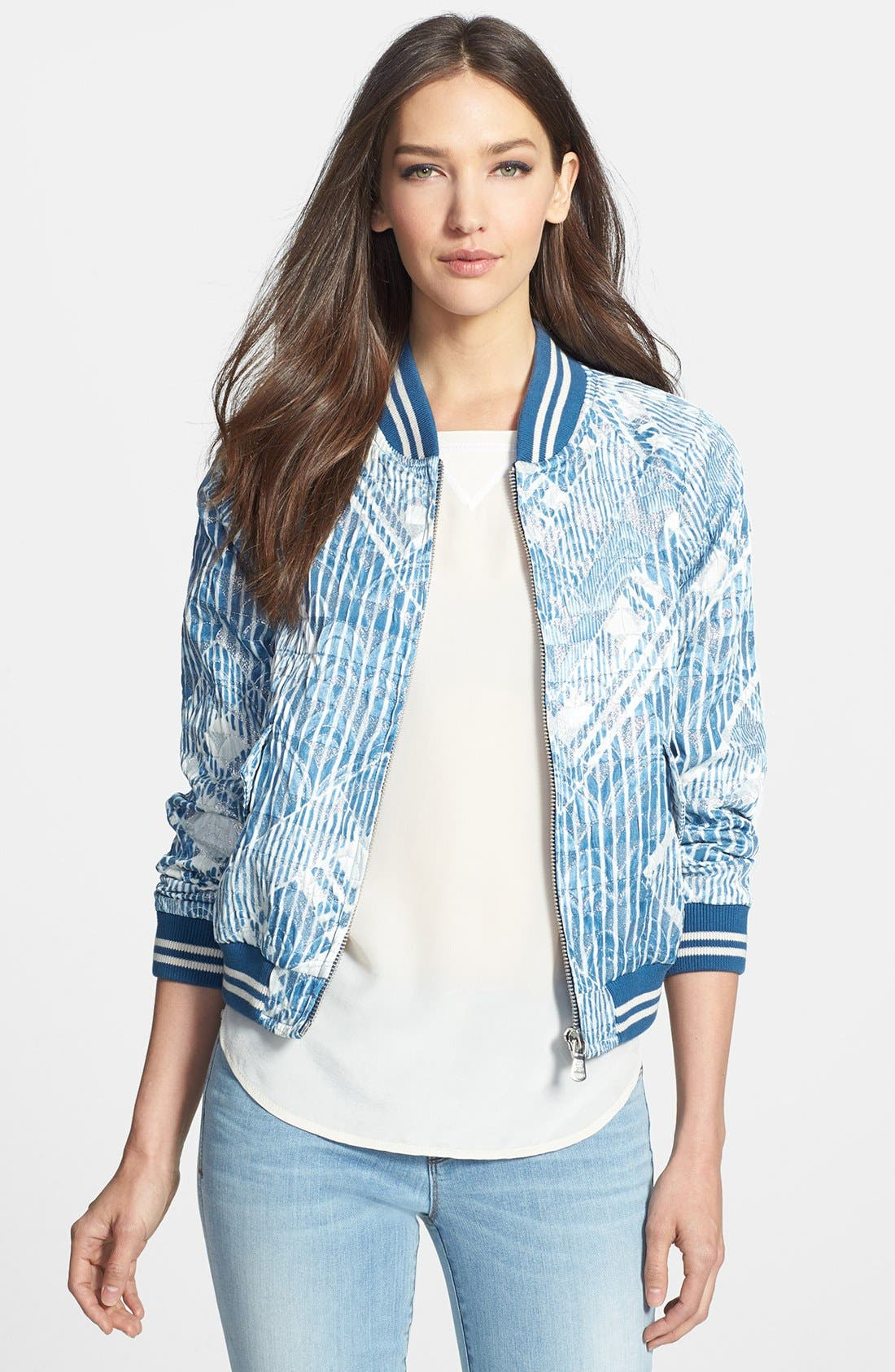 Main Image - MARC BY MARC JACOBS 'Matelesse' Print Bomber Jacket