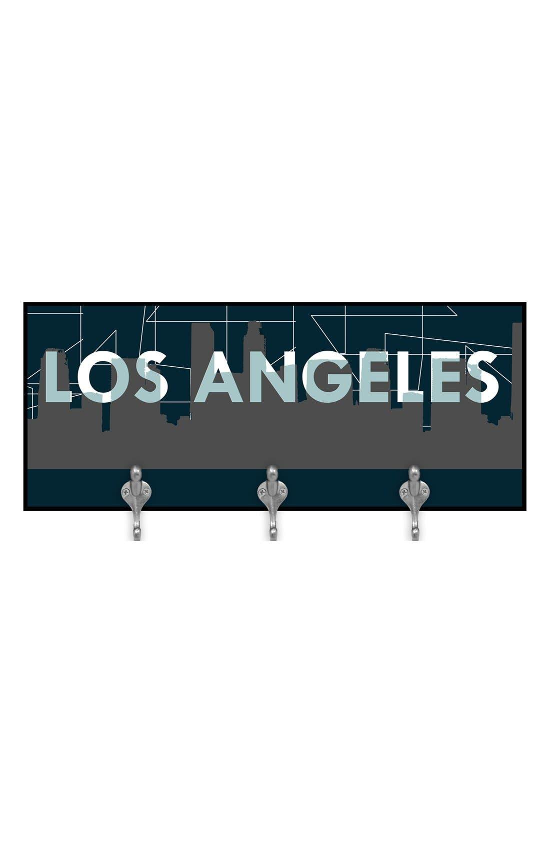 Alternate Image 1 Selected - Green Leaf Art 'Los Angeles' Multi Hook Wall Mount Rack