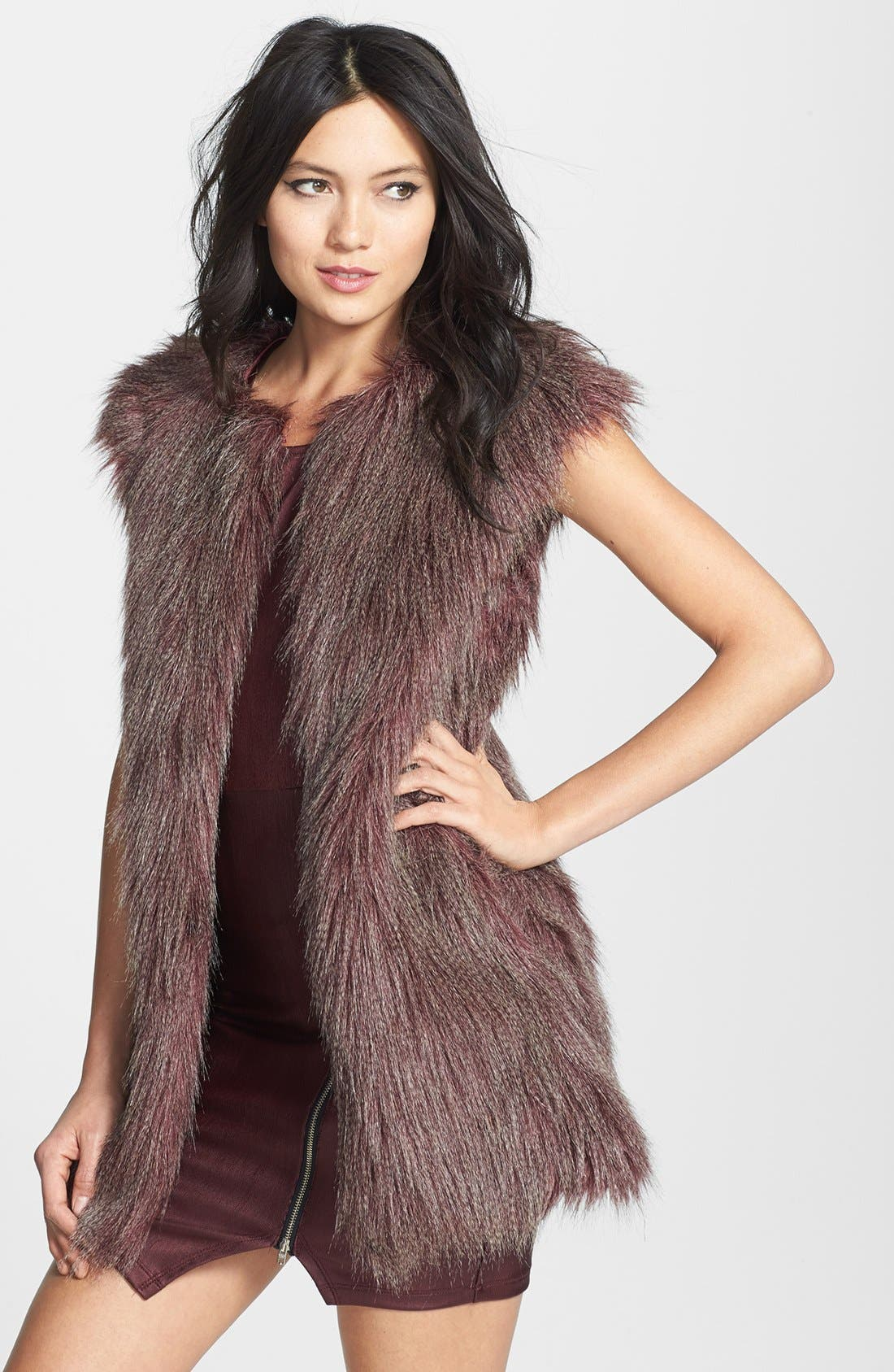 Alternate Image 1 Selected - Romeo & Juliet Couture Faux Fur Vest