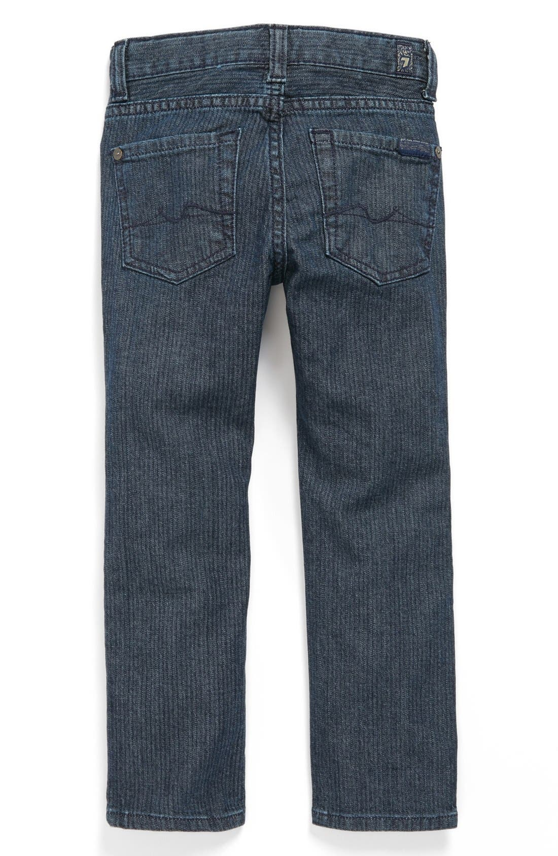 Alternate Image 1 Selected - 7 For All Mankind® 'Slimmy' Herringbone Slim Fit Jeans (Toddler Boys)
