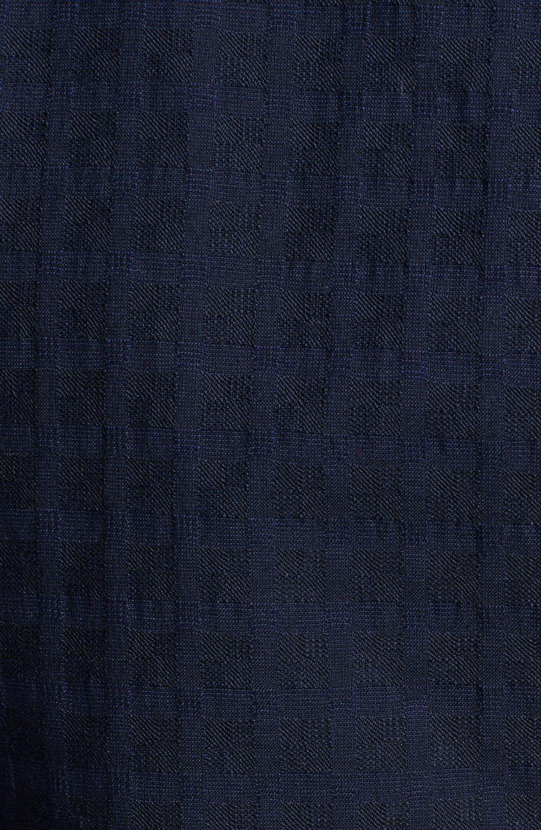 Alternate Image 3  - Z Zegna Navy Jacquard Check Wool Sportcoat