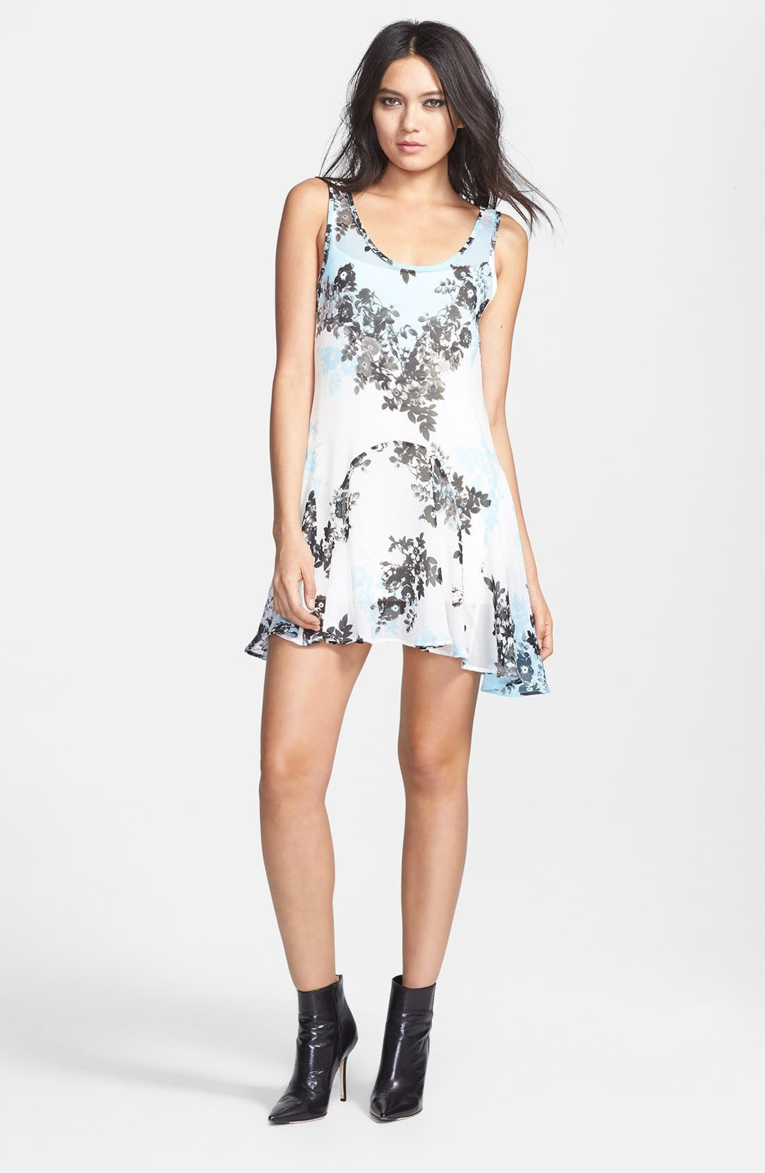 Main Image - June & Hudson Floral Tunic Dress