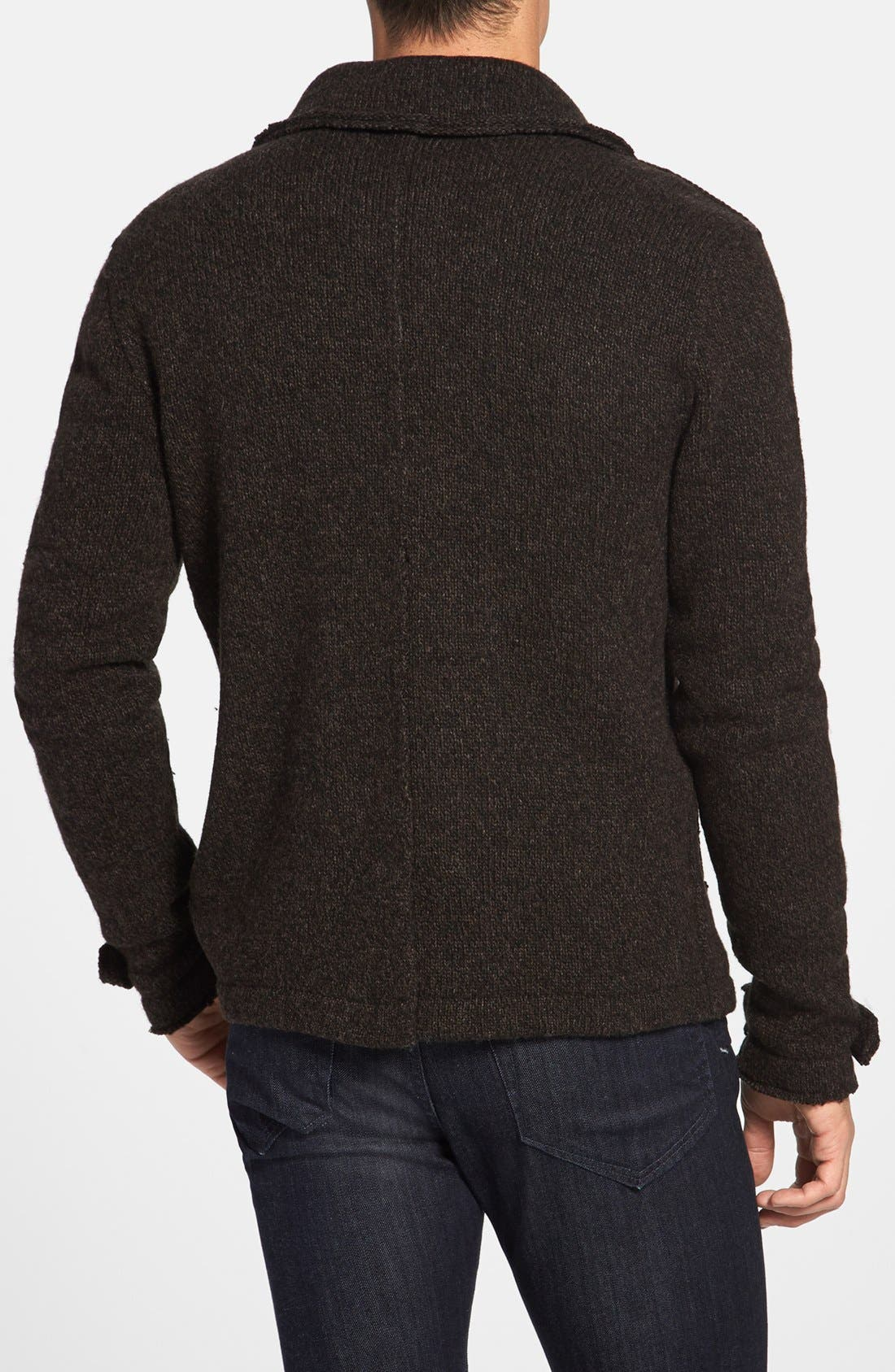 Alternate Image 2  - John Varvatos Star USA Raw Edge Sweater Peacoat