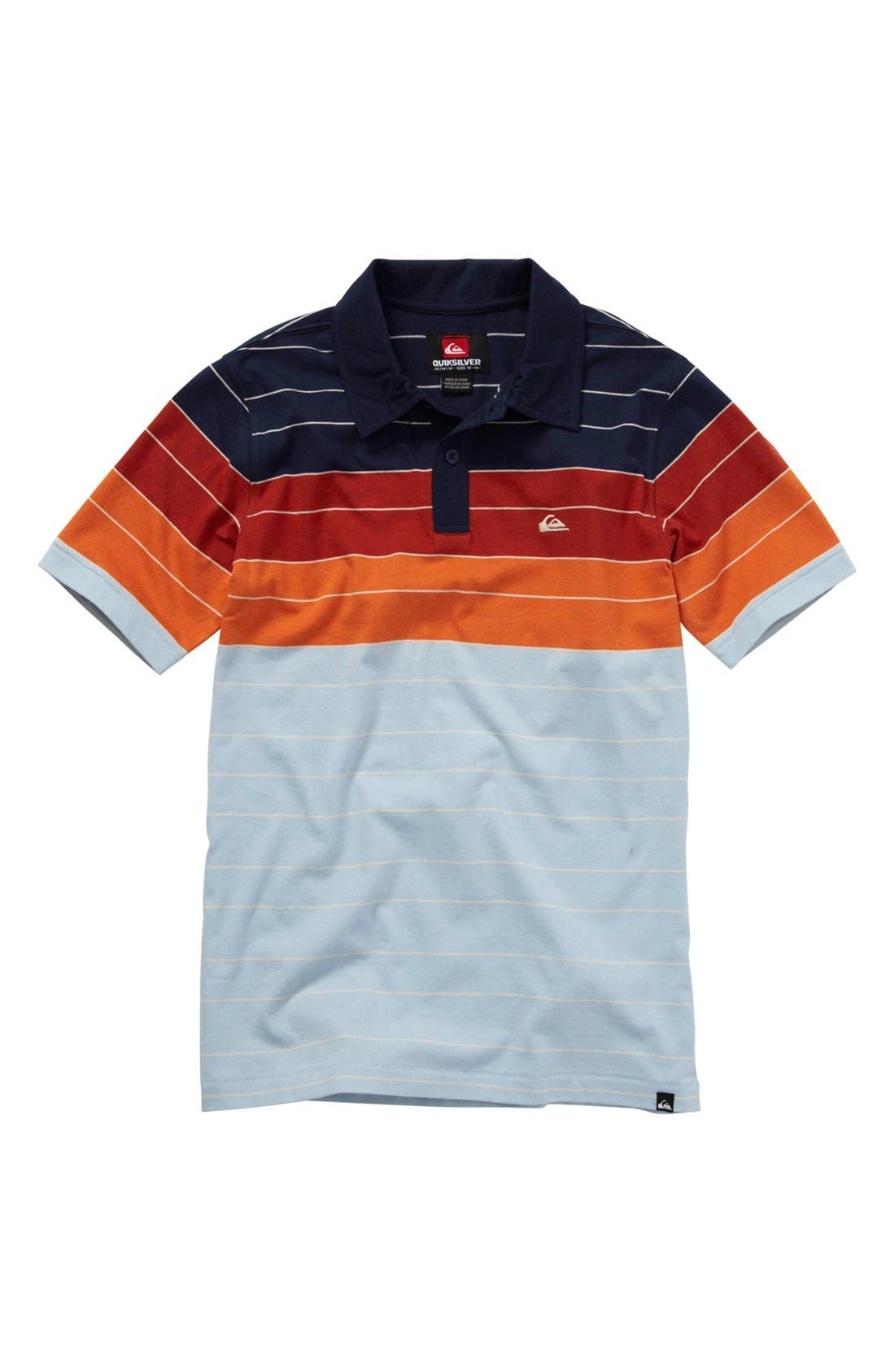 Main Image - Quiksilver 'North Side' Polo (Big Boys)