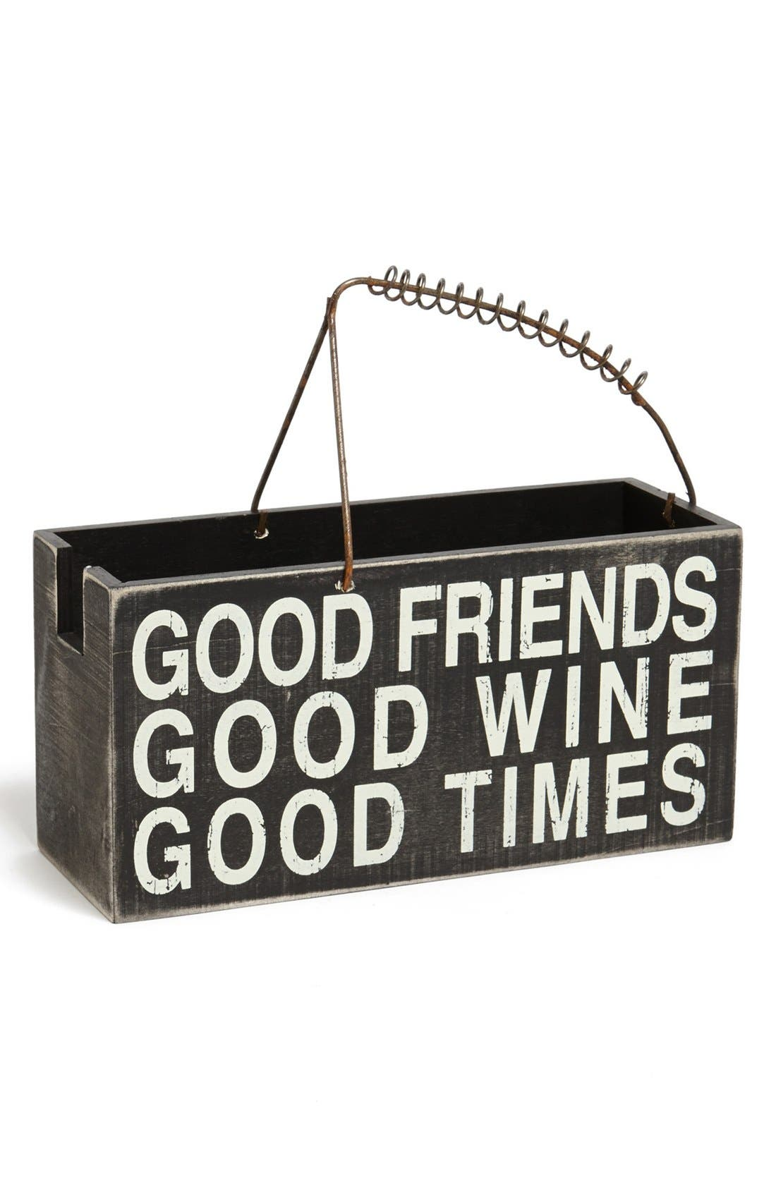 Main Image - Primitives by Kathy 'Good Friends' Box Sign Wine Caddy