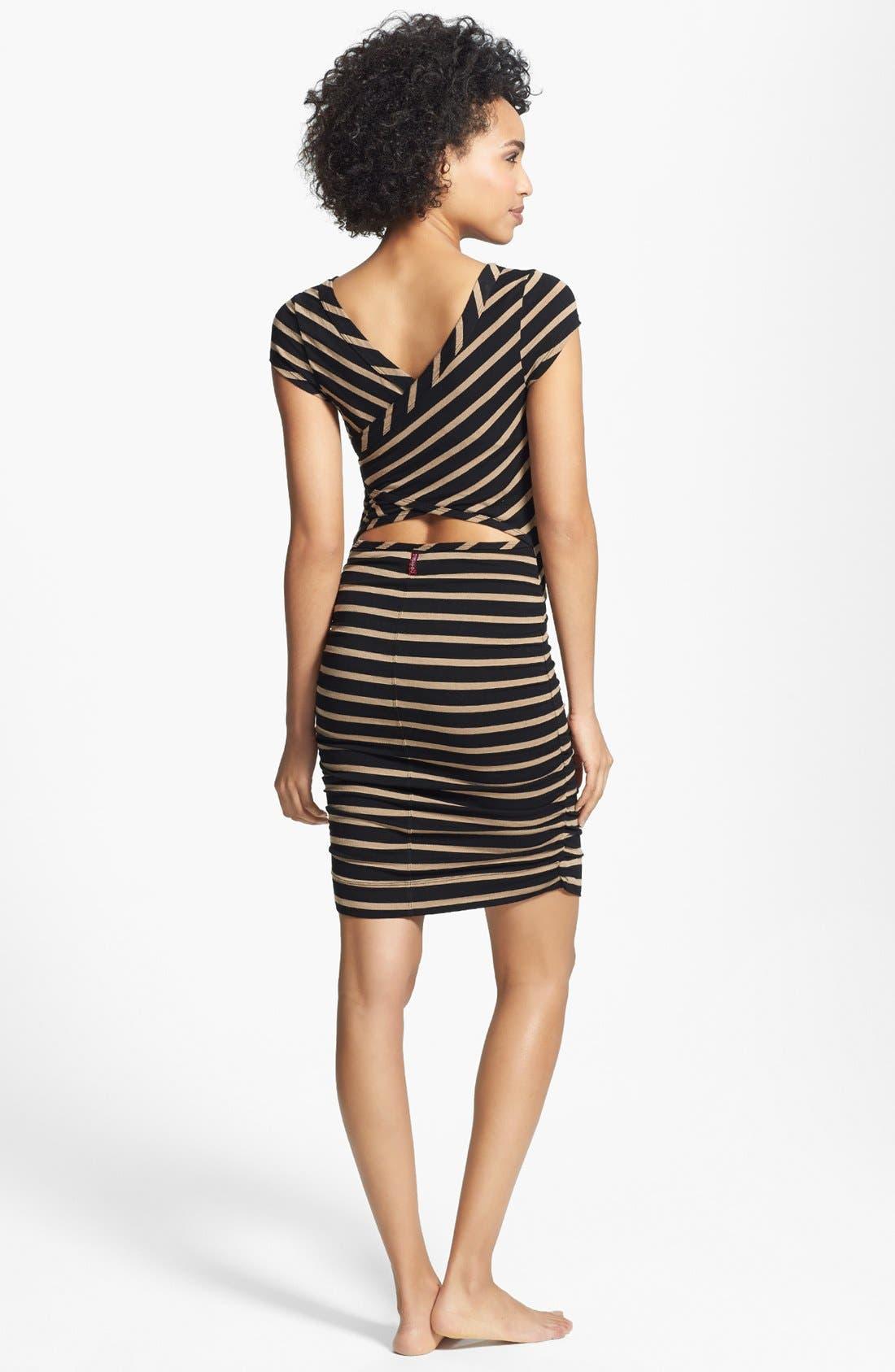 Alternate Image 1 Selected - Hard Tail Wrap Back Stripe Dress