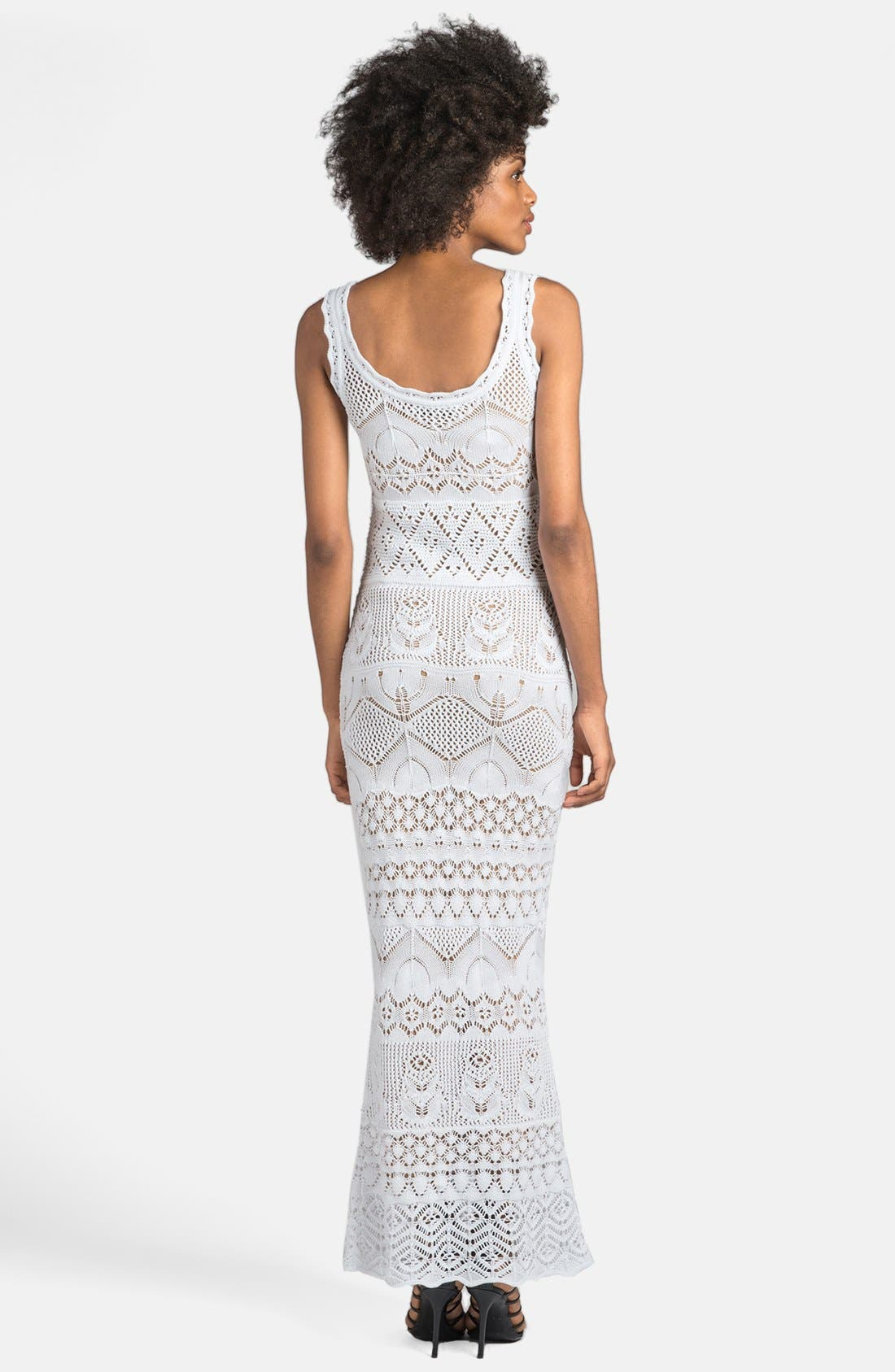 Alternate Image 2  - Emilio Pucci Long Crocheted Gown