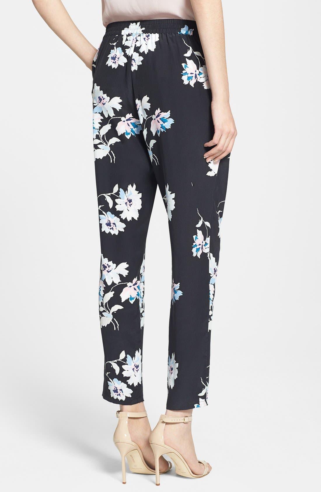 Alternate Image 2  - Joie 'Talina B' Floral Print Silk Pants