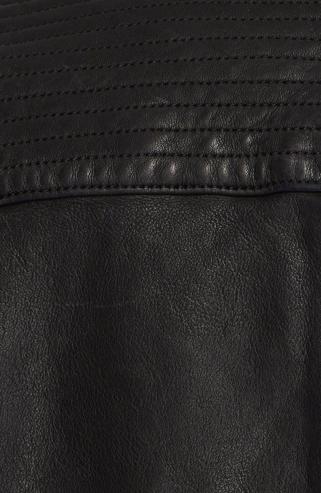 Alternate Image 3  - Burberry Brit 'Losley' Leather Moto Jacket
