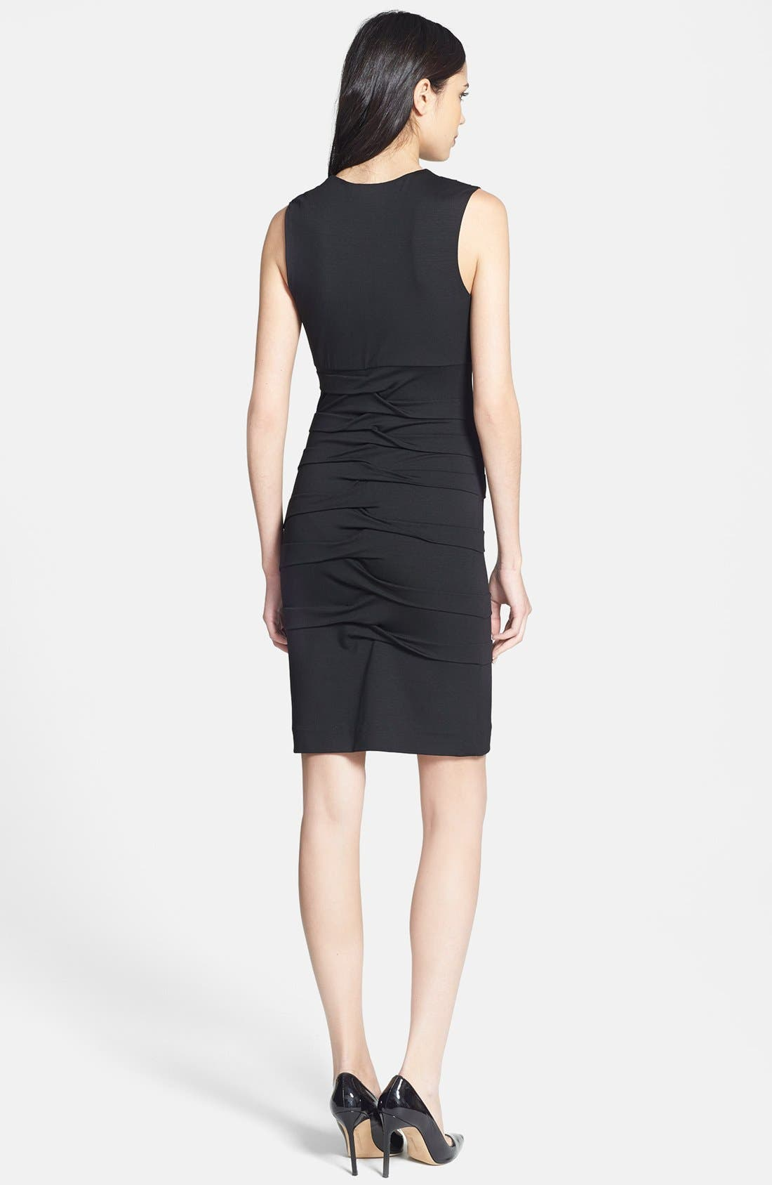Alternate Image 2  - Nicole Miller Sleeveless Jersey Sheath Dress