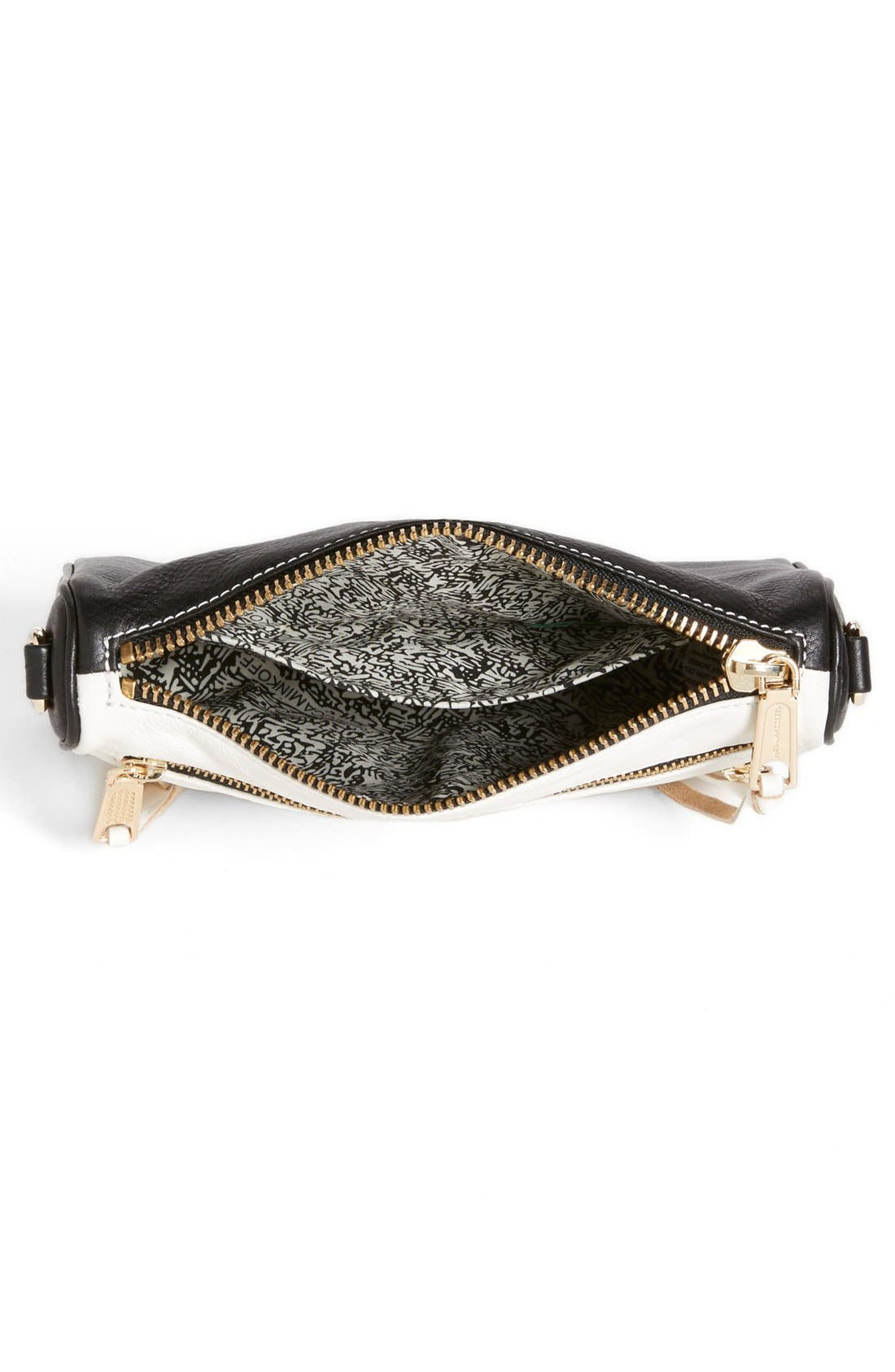 Alternate Image 3  - Rebecca Minkoff '5 Zip - Mini' Two-Tone Leather Crossbody Bag
