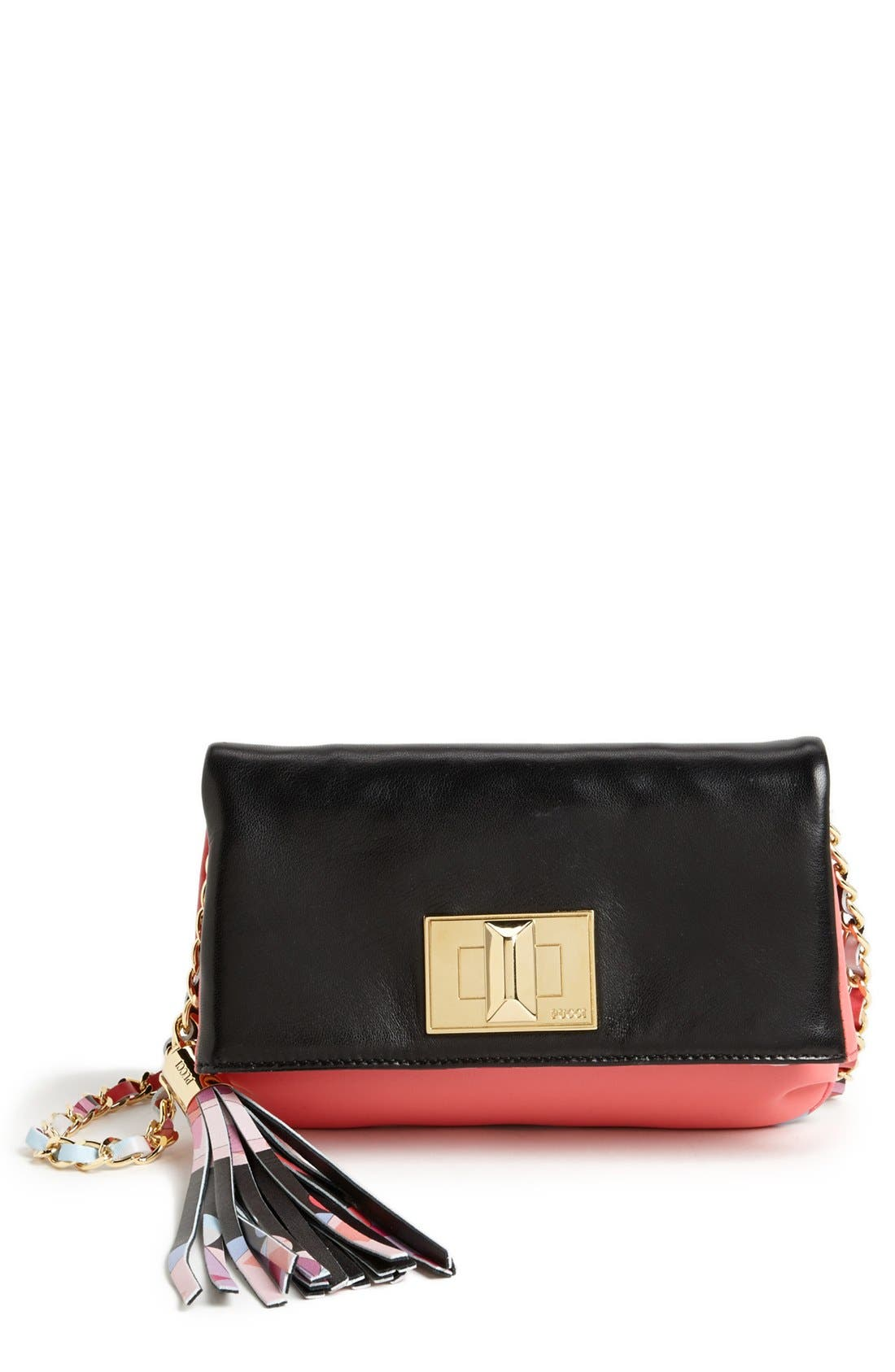 Alternate Image 1 Selected - Emilio Pucci 'Mini' Colorblock Lambskin Leather Crossbody Bag