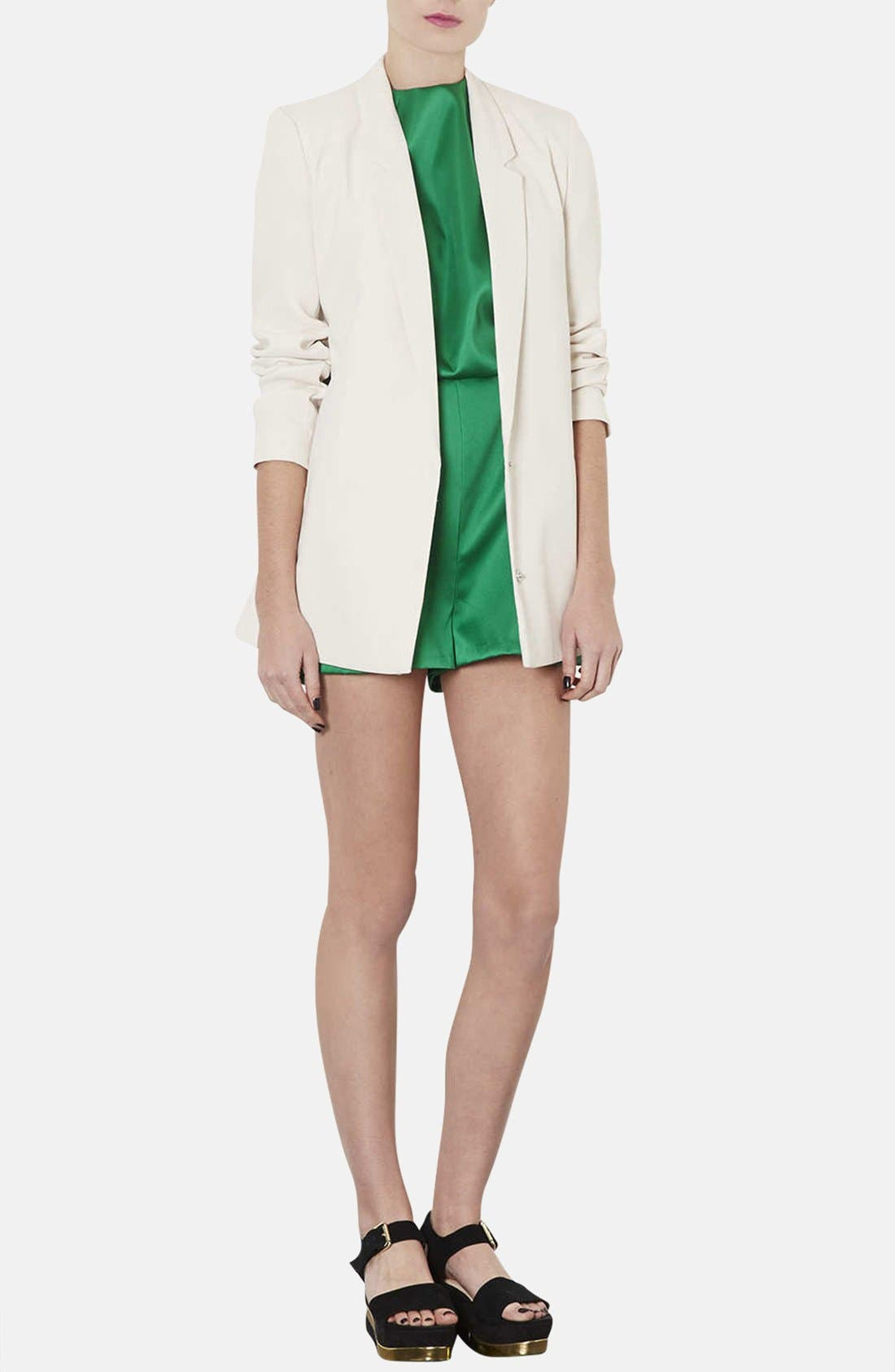 Alternate Image 4  - Topshop High Neck Satin Romper
