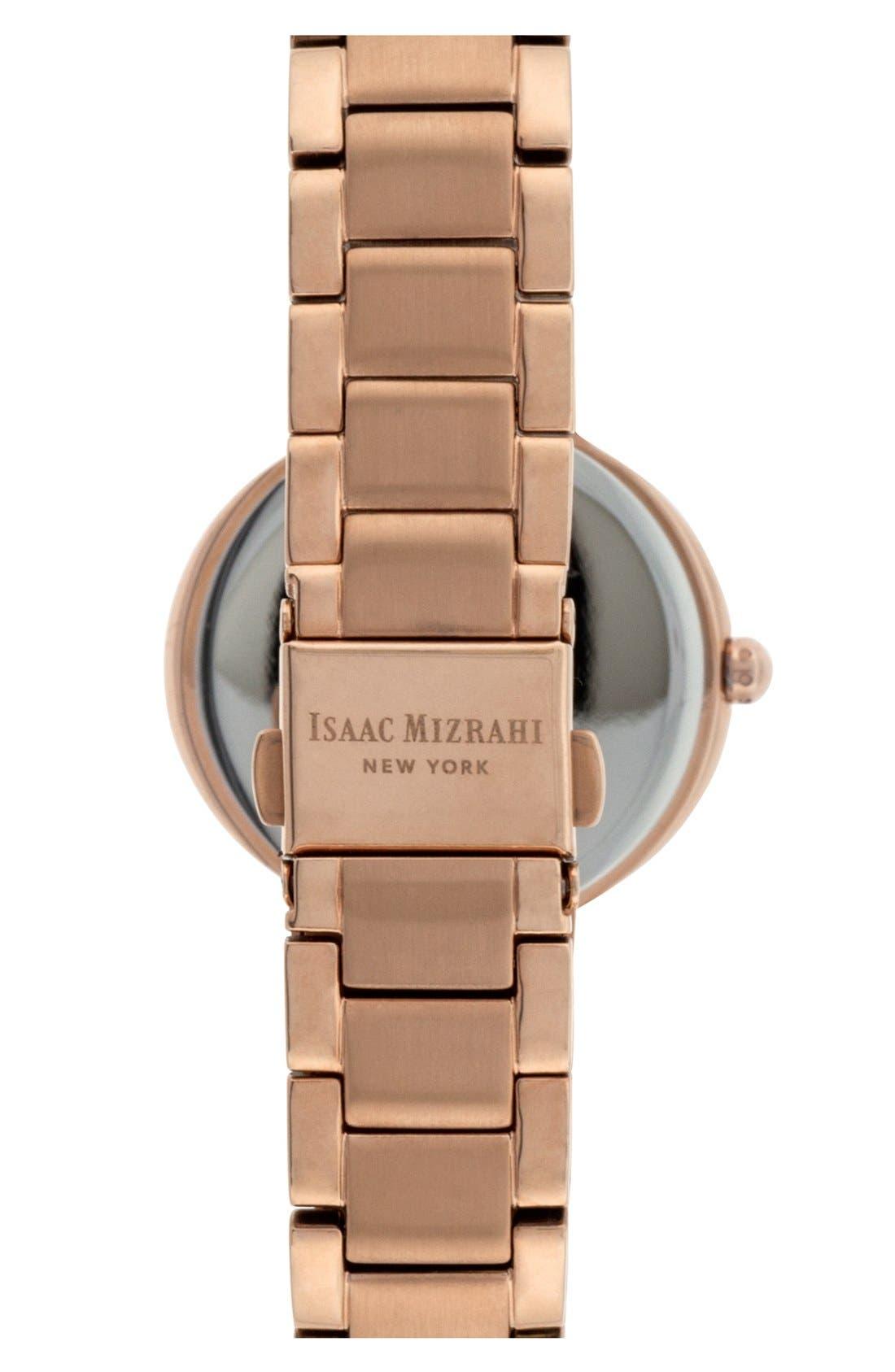 Alternate Image 2  - Isaac Mizrahi New York Crystal Bezel Bracelet Watch, 30mm