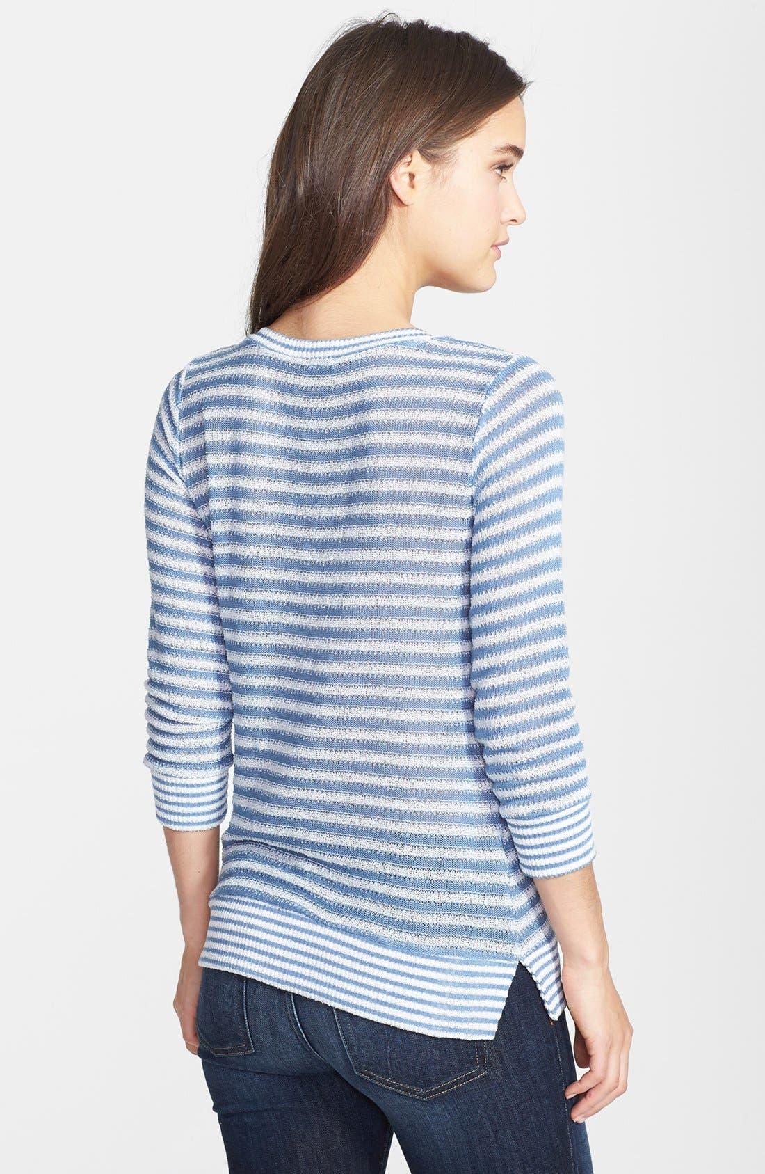 Alternate Image 2  - Splendid Pointelle Stripe Knit Pullover