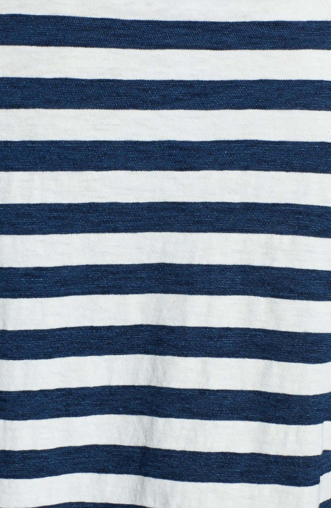 Alternate Image 3  - Splendid Stripe Snap Button Cotton Henley Tee
