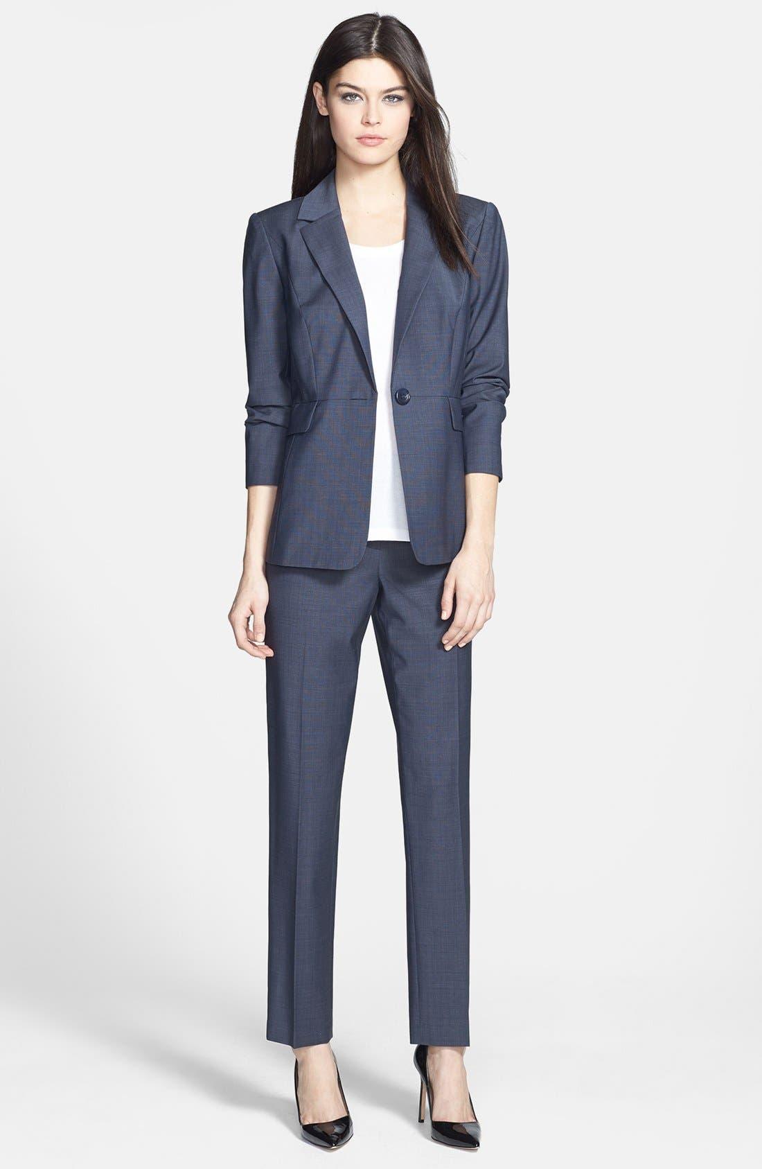 Alternate Image 4  - Classiques Entier® 'Simone' Slim Wool Suiting Pants