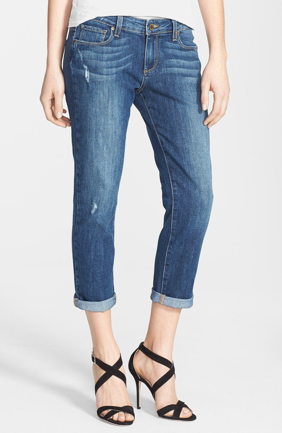 Alternate Image 1 Selected - Paige Denim 'Jimmy Jimmy' Distressed Crop Jeans (Luca)