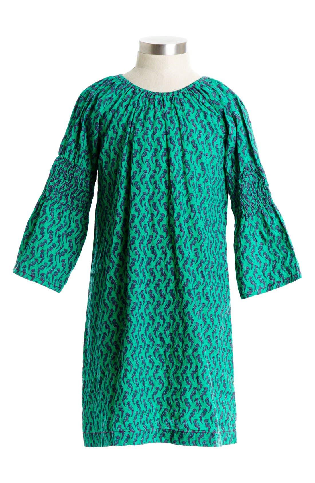 Main Image - Peek 'Simona' Smocked Sleeve Dress (Toddler Girls, Little Girls & Big Girls)