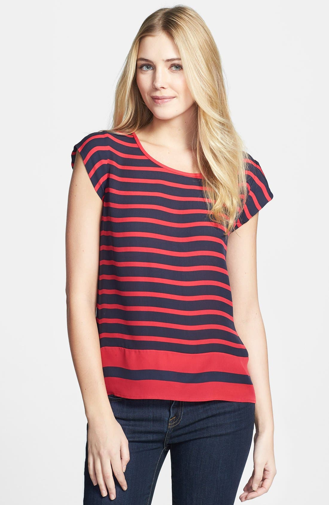 Alternate Image 1 Selected - Joie 'Terry B.' Stripe Silk Top