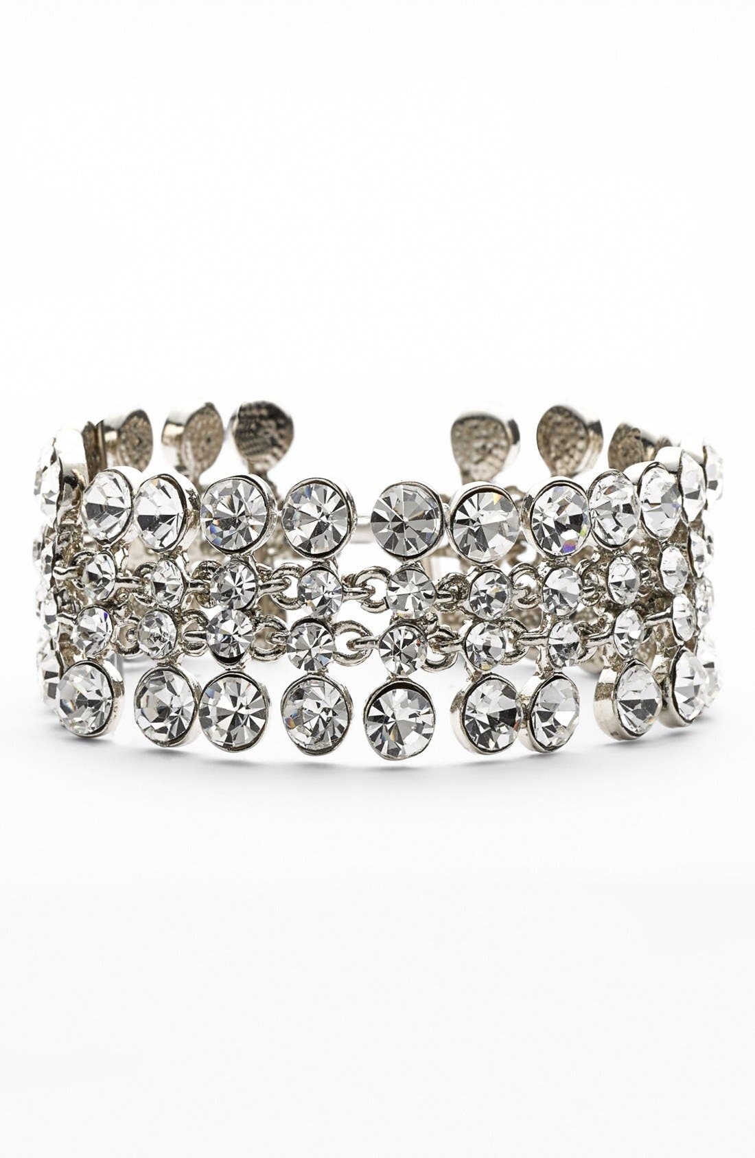 Alternate Image 1 Selected - Nina 'Tiarra' Crystal Line Bracelet