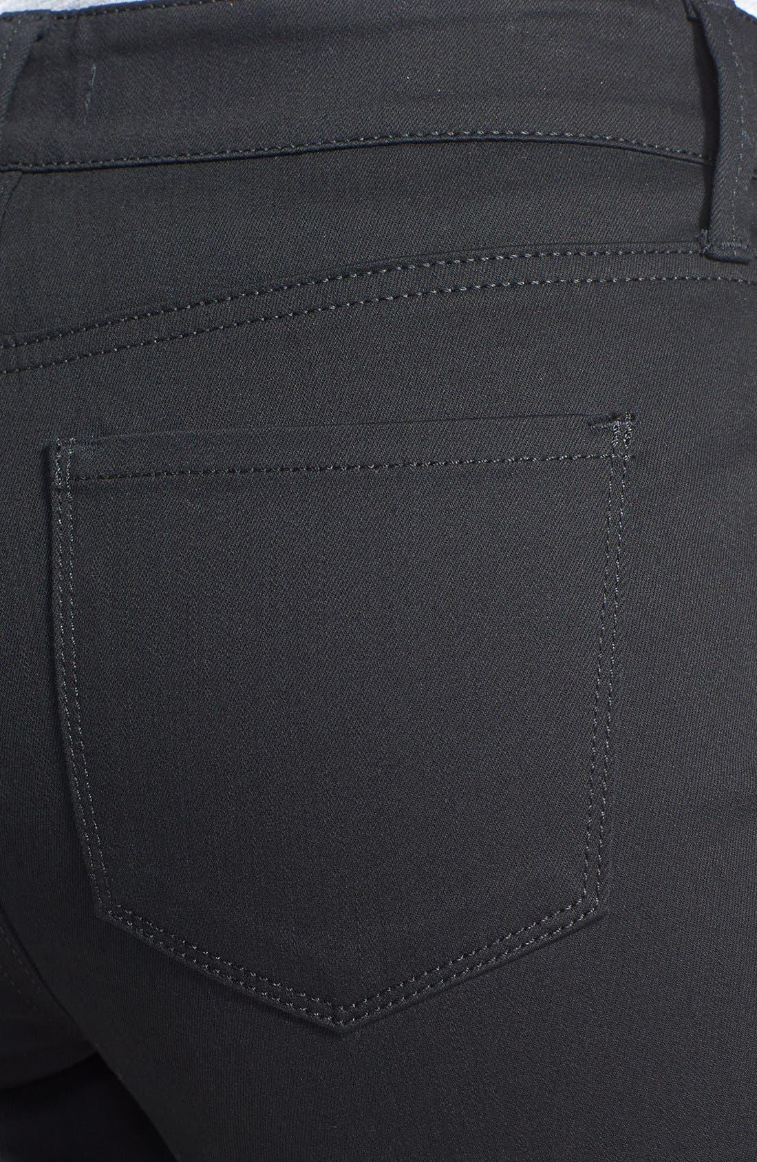 Alternate Image 3  - NYDJ 'Aurora' Two-Tone Stretch Skinny Jeans (Optic White/Black)