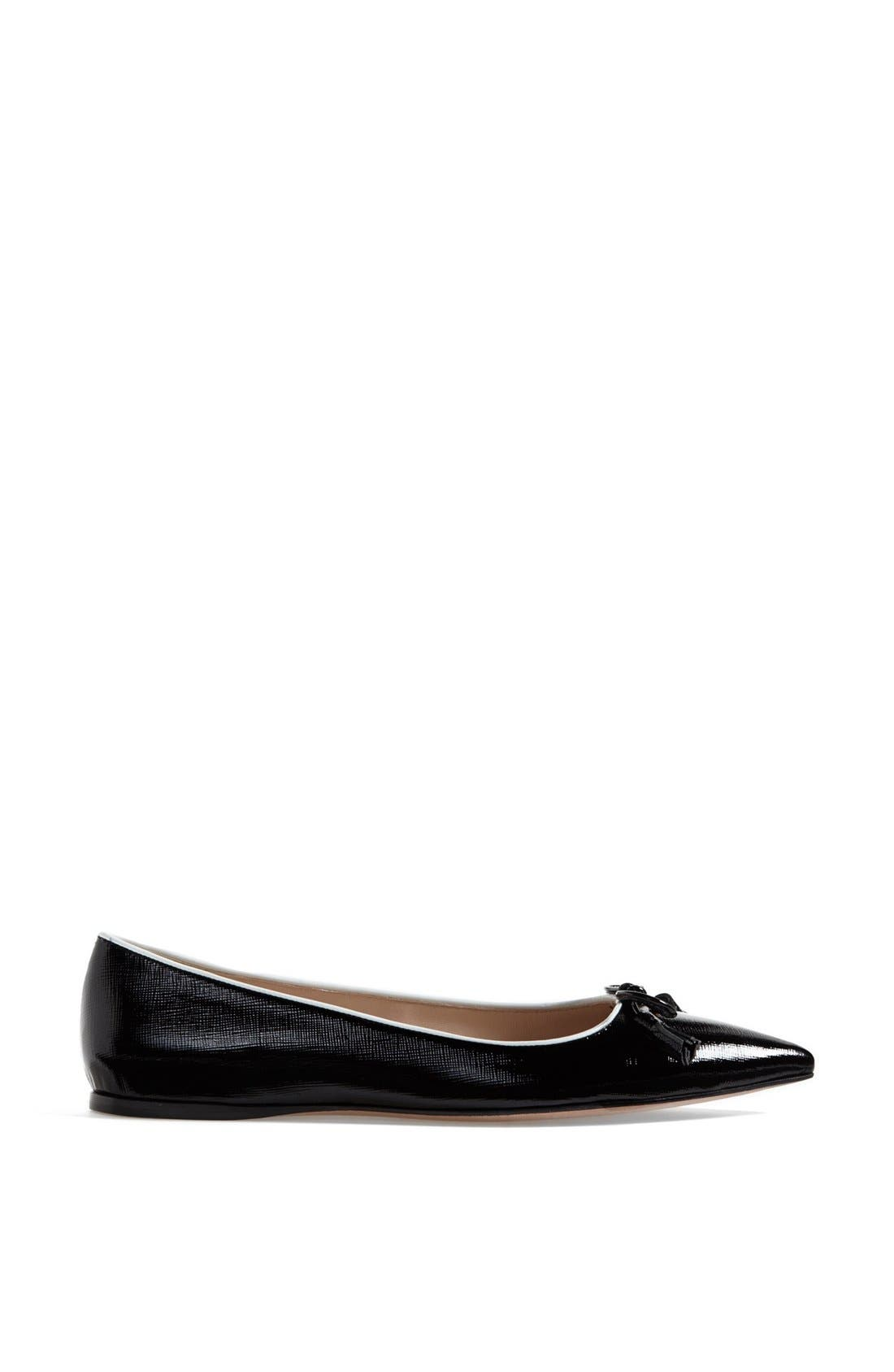 Alternate Image 4  - Prada Pointed Toe Logo Ballet Flat