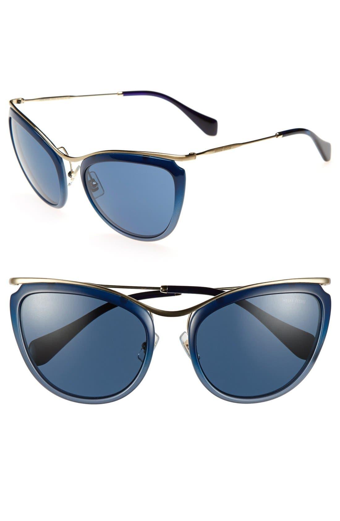 Alternate Image 1 Selected - Miu Miu 57mm Cat Eye Sunglasses