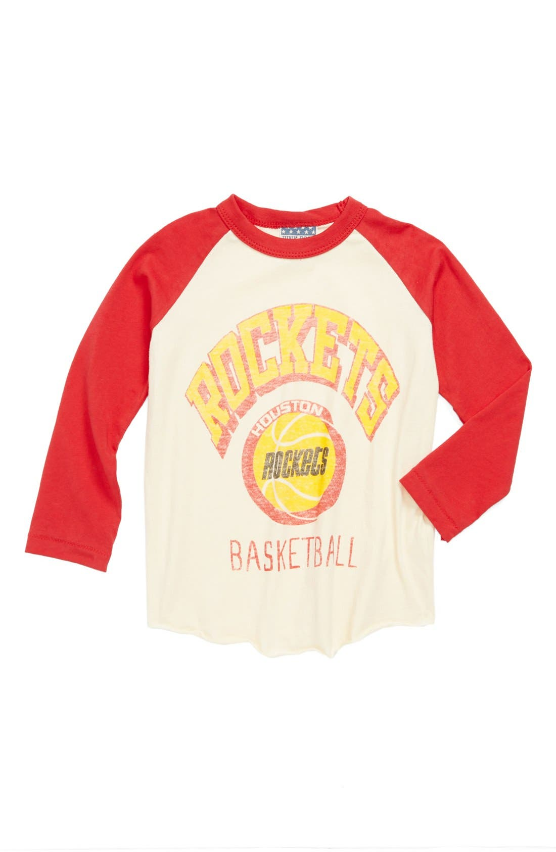 Alternate Image 1 Selected - Junk Food 'Houston Rockets' Long Sleeve T-Shirt (Toddler Boys)