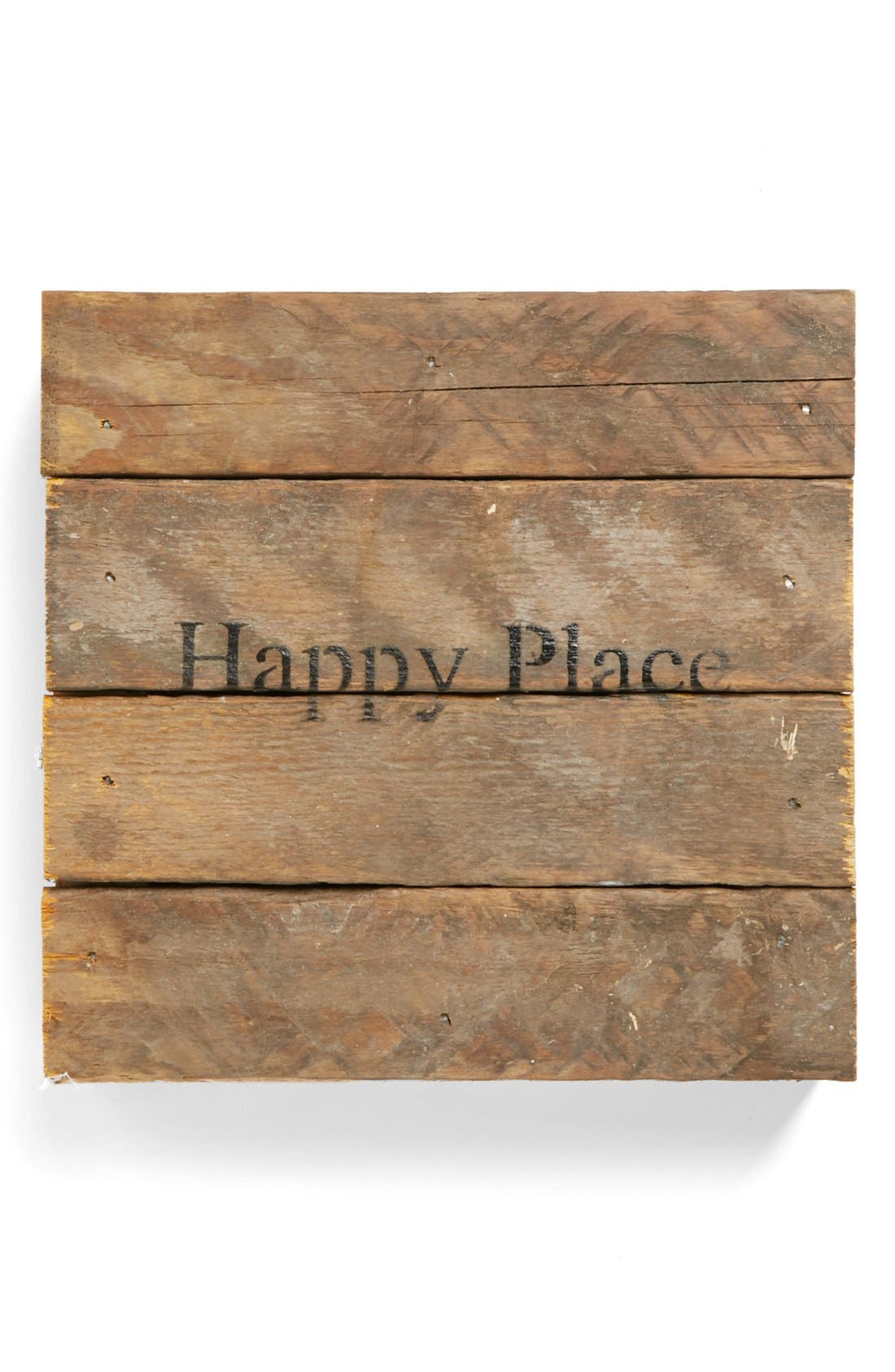 Main Image - Second Nature By Hand 'Happy Place' Repurposed Wood Wall Art