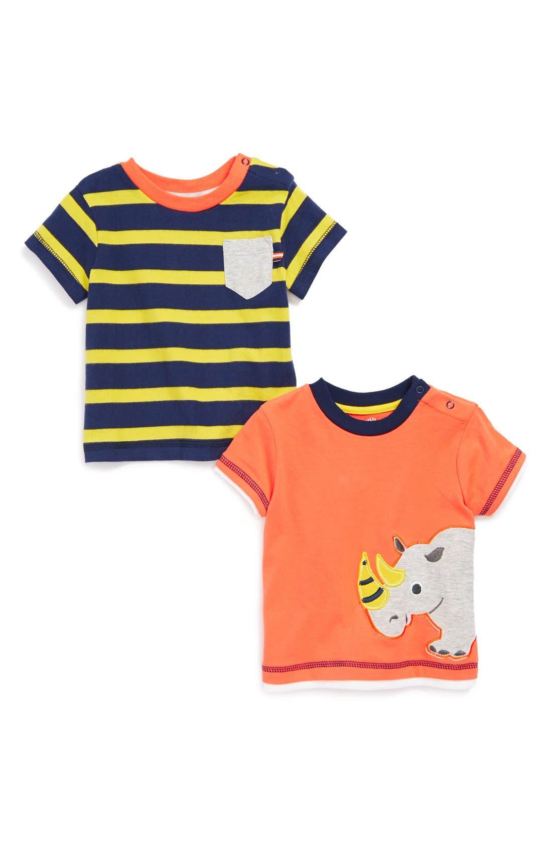 Main Image - Little Me 'Rhino' T-Shirts (2-Pack) (Baby Boys)