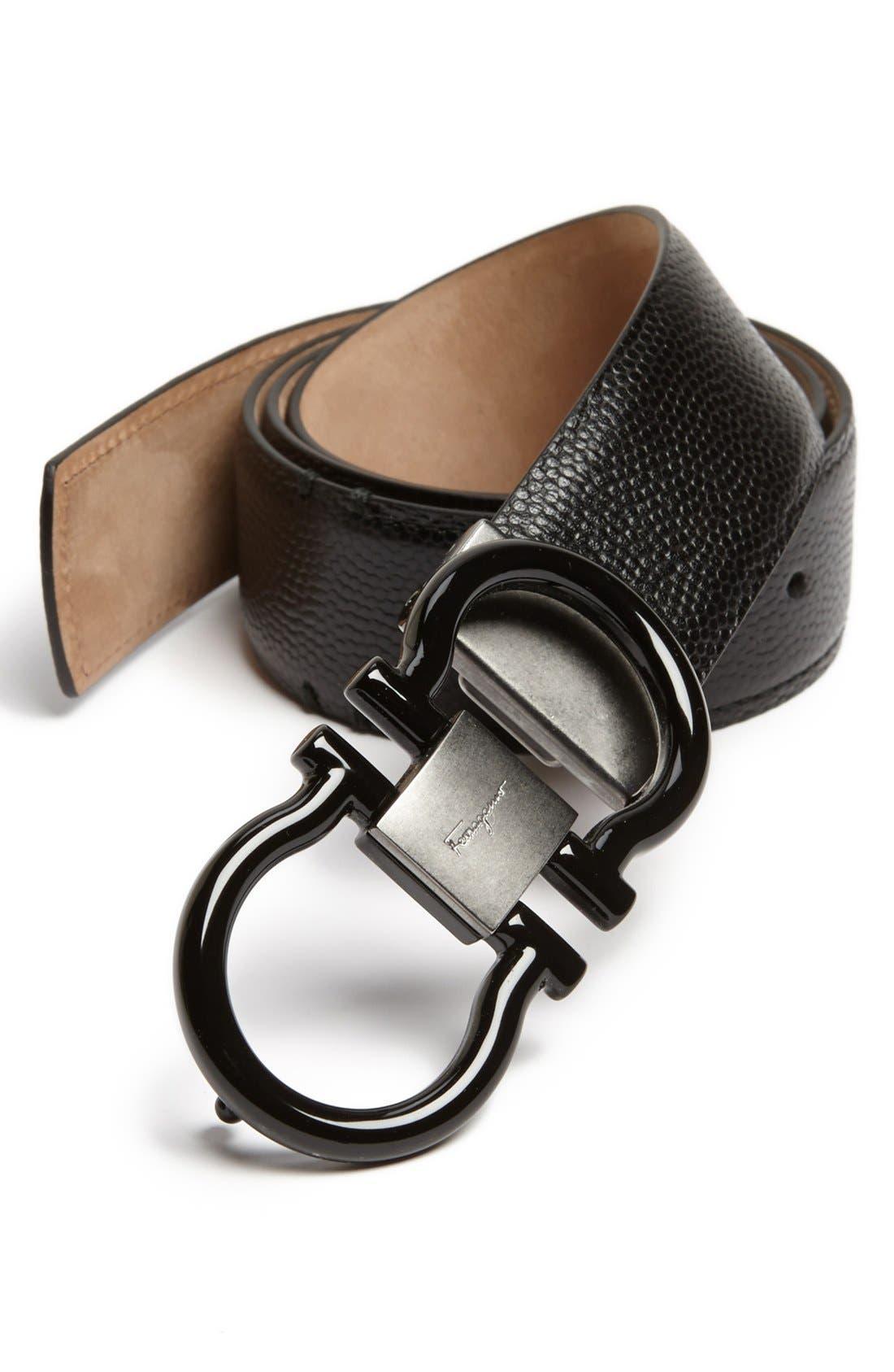 Main Image - Salvatore Ferragamo Calfskin Leather Belt