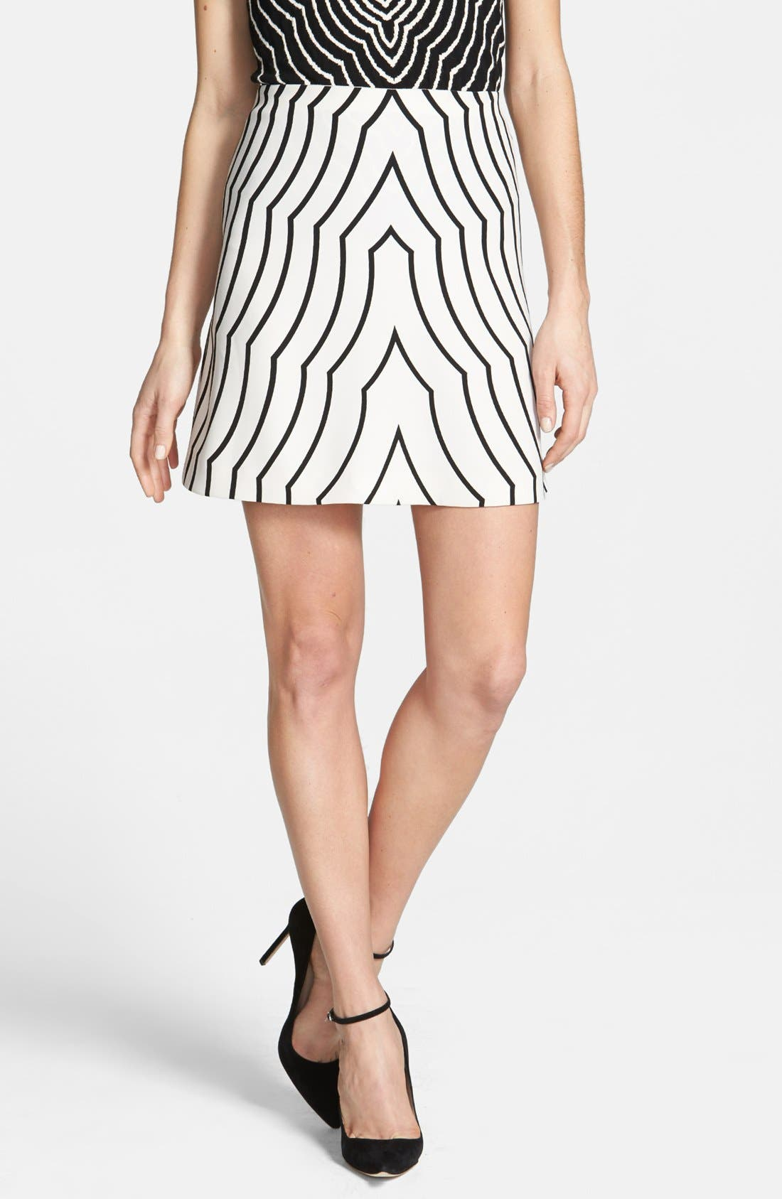 Main Image - MARC BY MARC JACOBS 'Radio Waves' Print Skirt