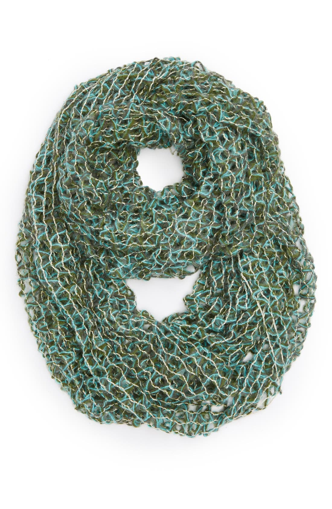 Alternate Image 1 Selected - David & Young Open Knit Infinity Scarf (Juniors) (Online Only)