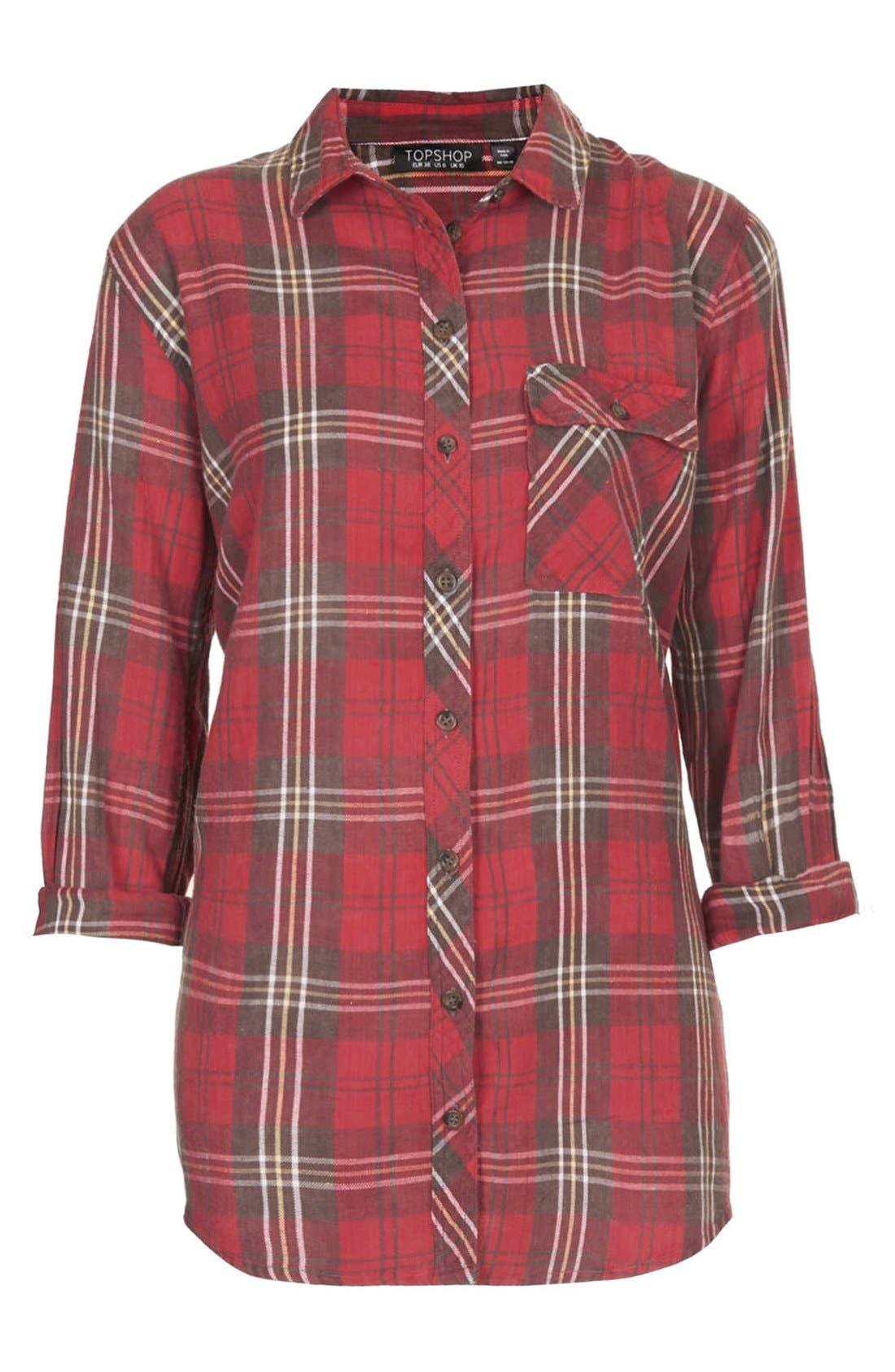 Alternate Image 3  - Topshop 'Marvin' Plaid Shirt