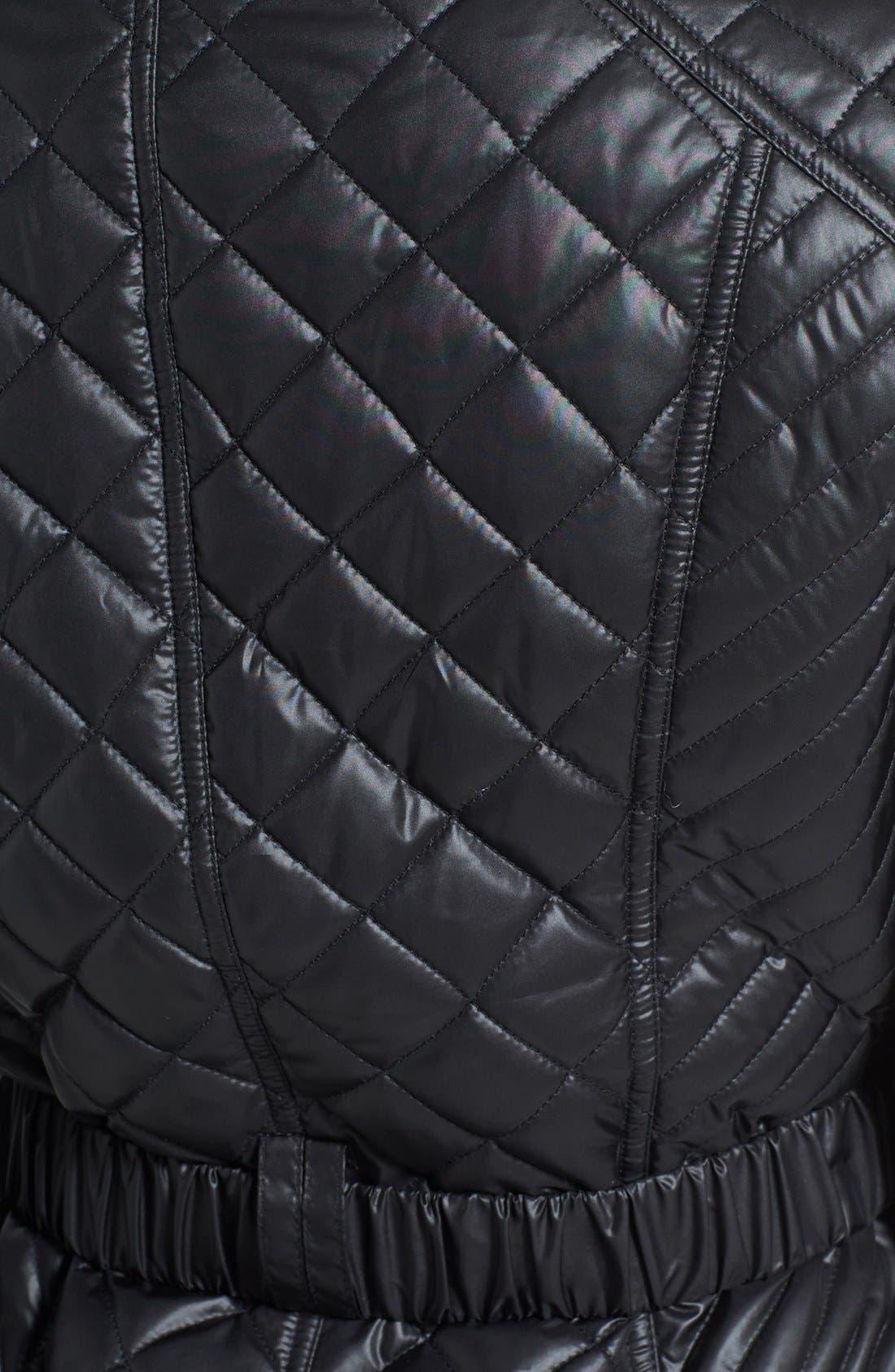 Alternate Image 3  - Ellen Tracy Belted Quilted Jacket (Online Only)