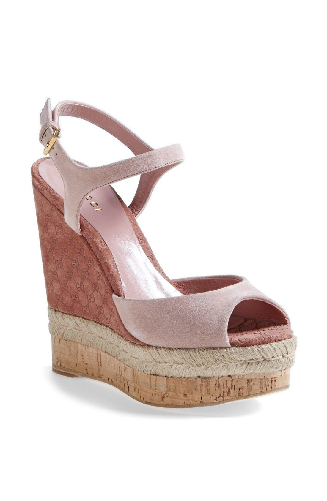 Alternate Image 1 Selected - Gucci 'Hollie' Wedge Sandal (Women)