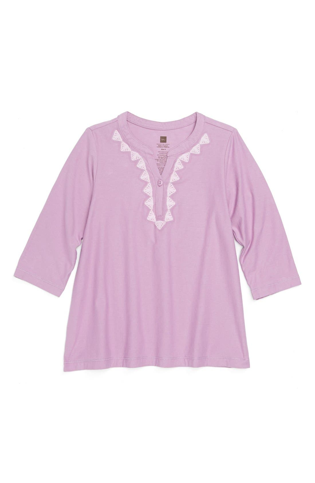 Main Image - Tea Collection 'Imane' Embroidered Top (Little Girls & Big Girls)