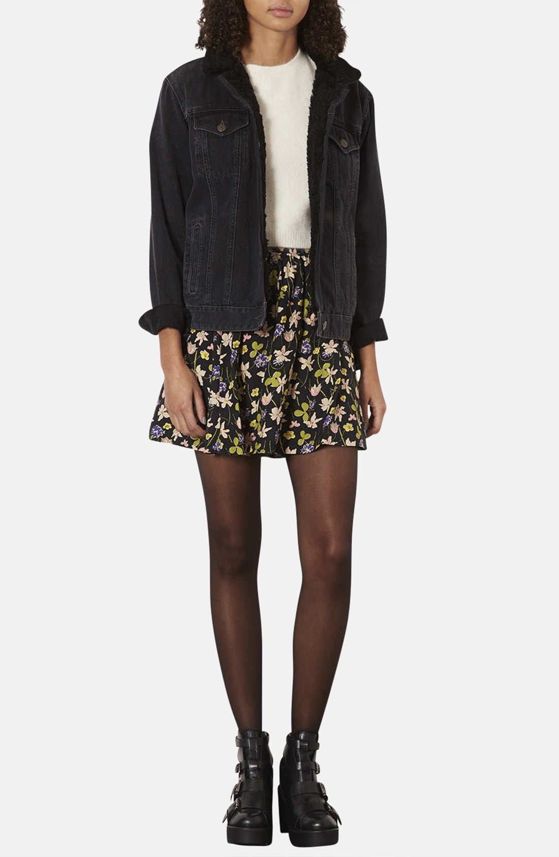 Alternate Image 4  - Topshop 'Milly' Wildflower Print Skirt