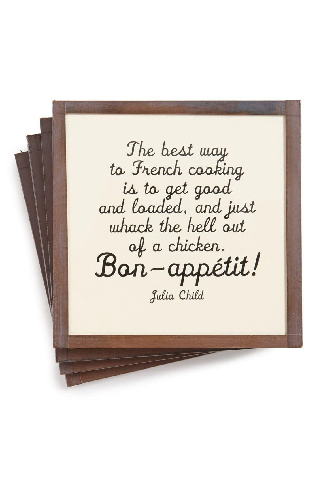 Main Image - Ben's Garden 'The Best Way to French Cooking' Coasters (Set of 4)