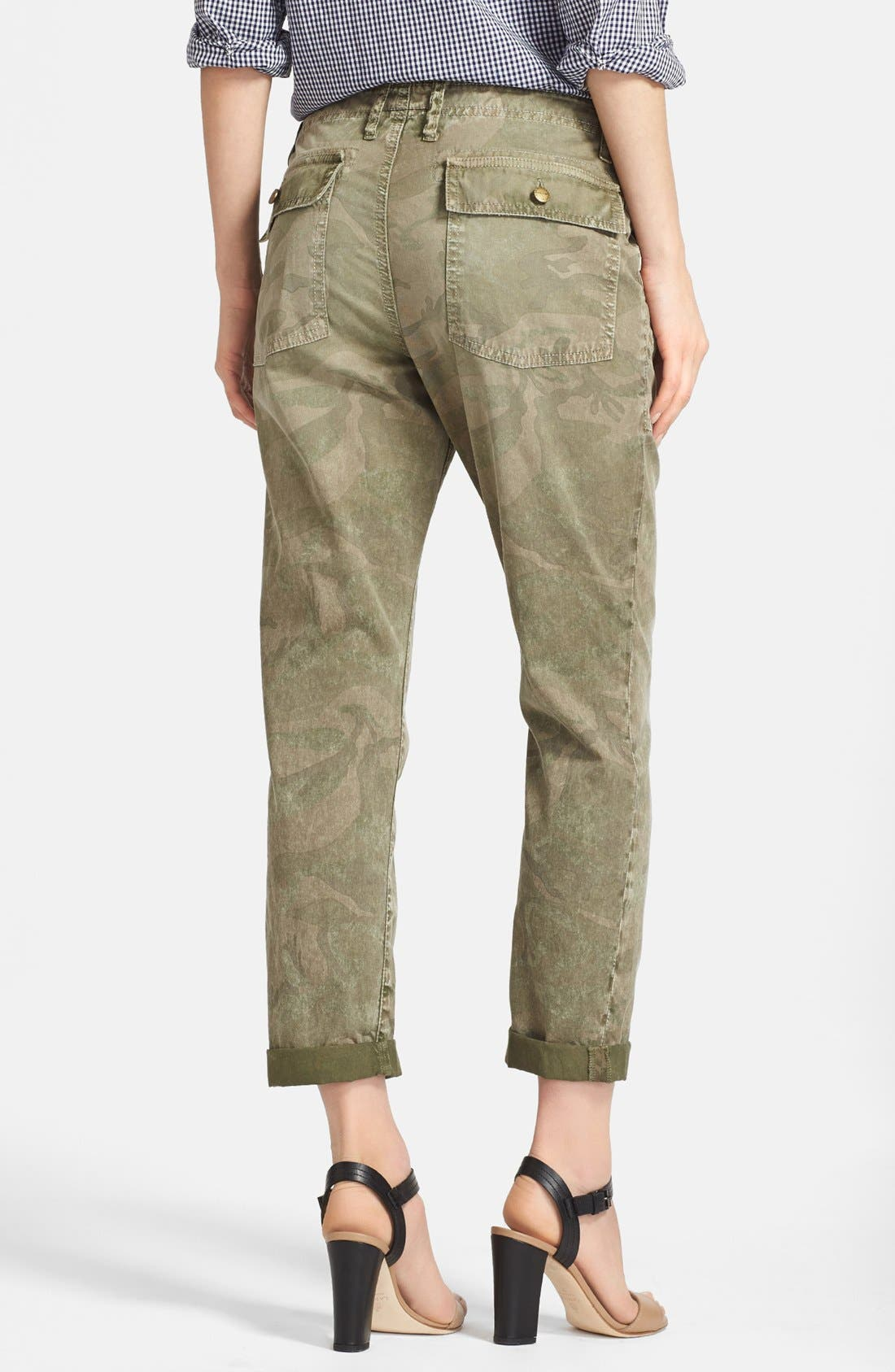 Alternate Image 2  - Current/Elliott 'The Army Buddy' Jeans (Army Camo)